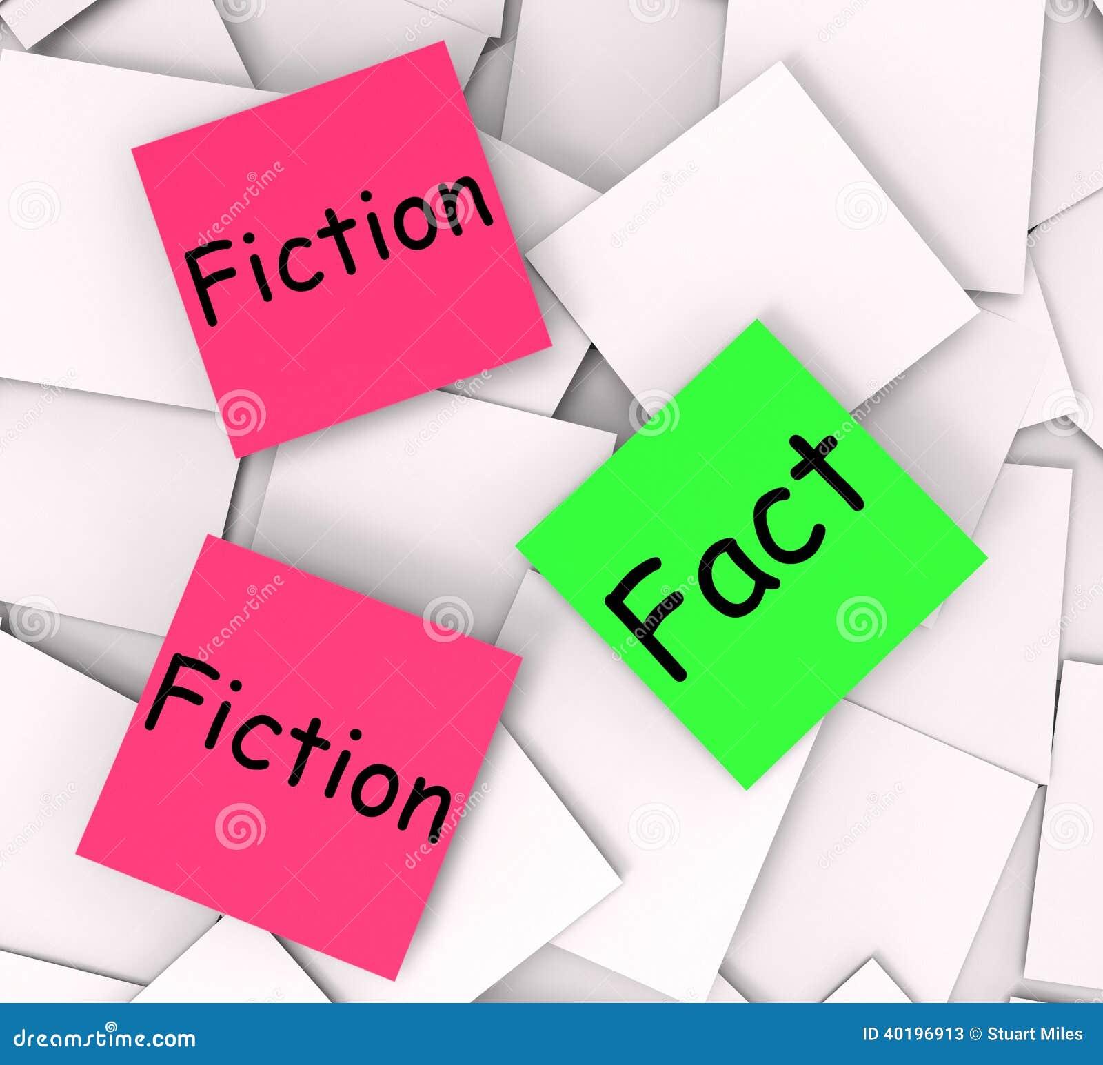 Medio de las notas de post-it de la ficción del hecho correcto o falsedad
