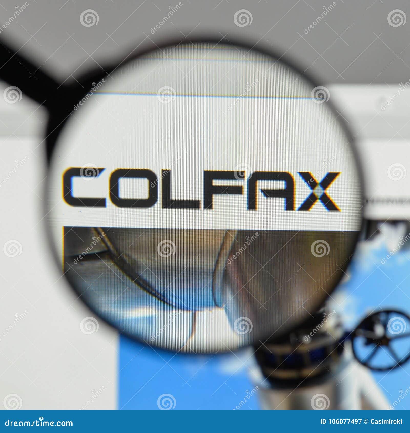 Mediolan Włochy, Sierpień, - 10, 2017: Colfax logo na strona internetowa domu