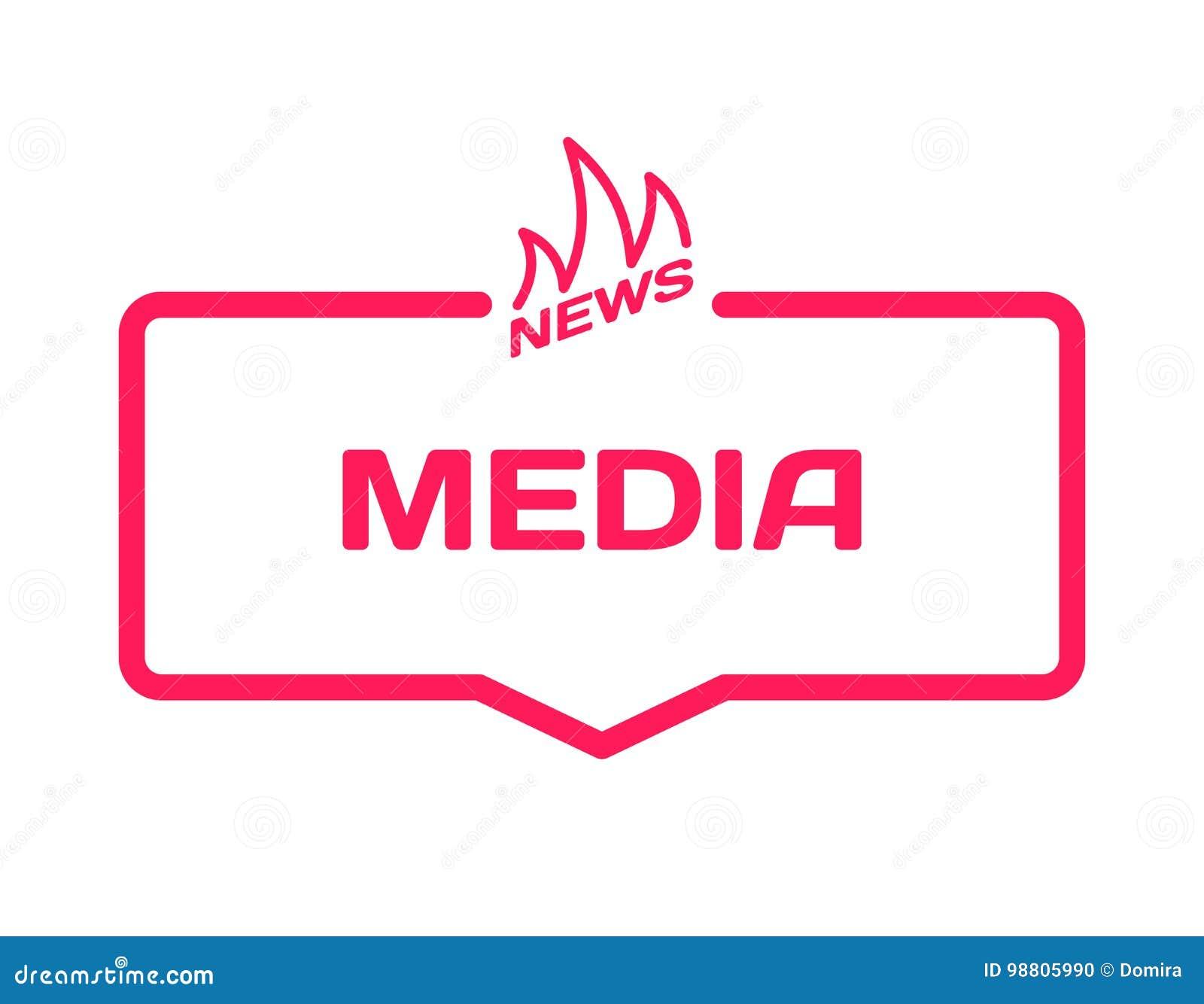 Medios Burbuja Del Diálogo De La Plantilla De Las Noticias Calientes ...