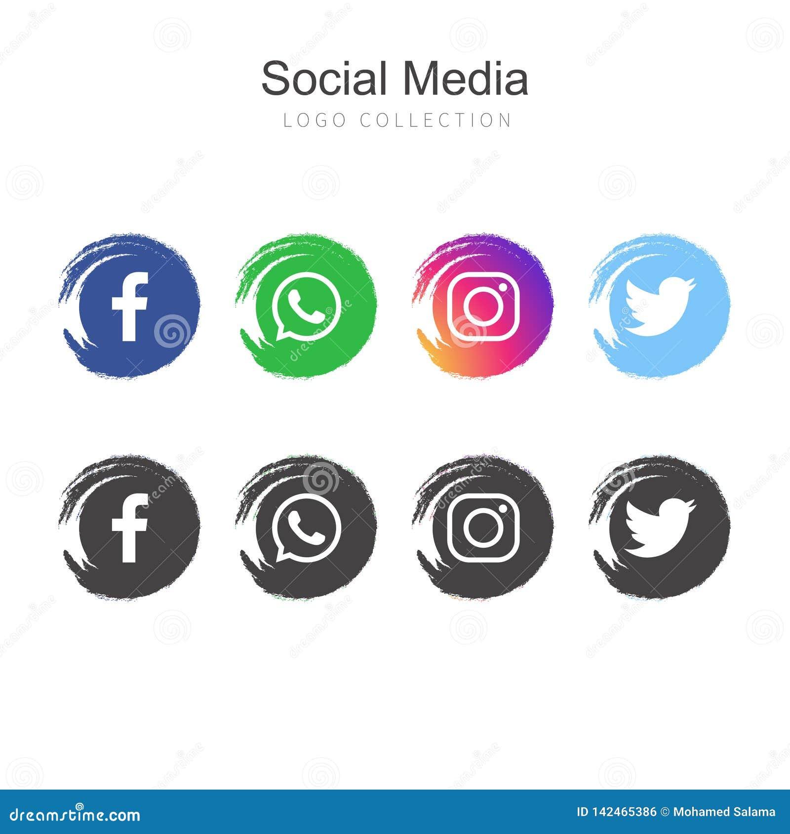 Medios colección social popular del logotipo
