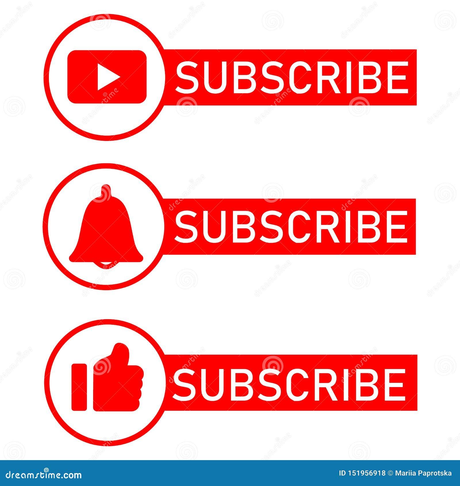 Medios iconos sociales de la notificaci?n Dise?o plano Suscriba el botón, icono de la campana del mensaje, como el botón del icon
