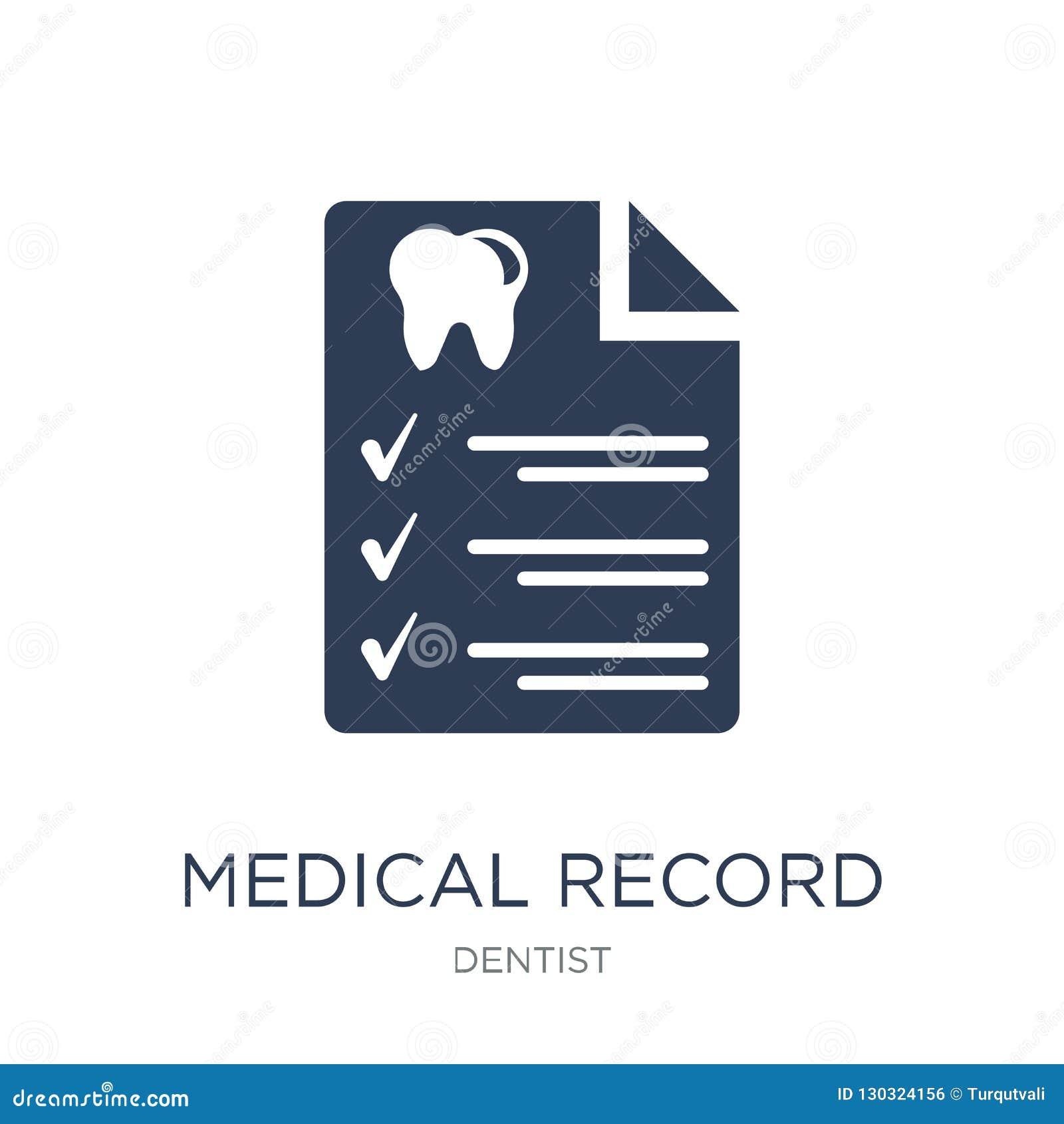 Medisch dossierpictogram In vlak vectormedisch dossierpictogram op w