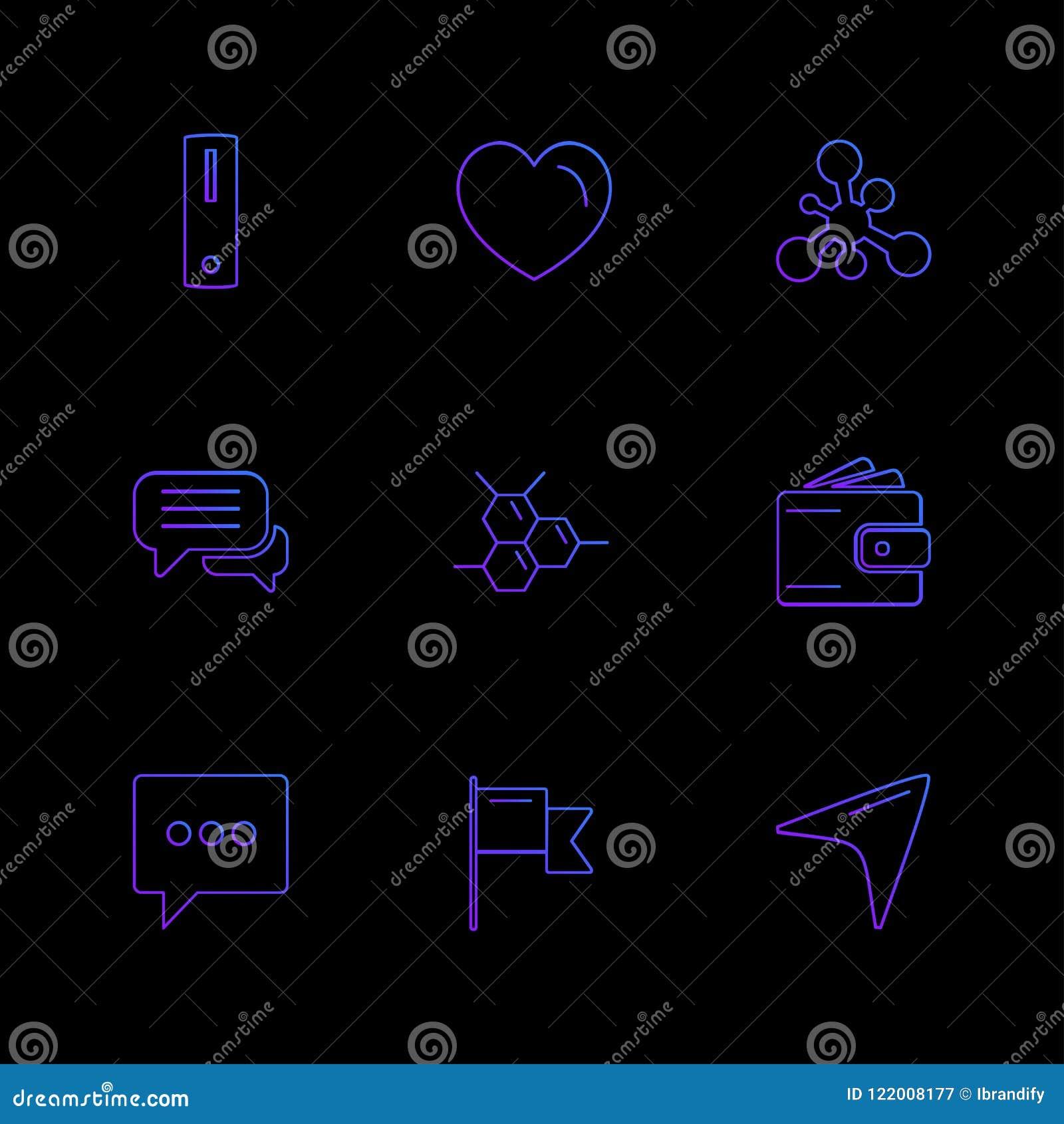 Medisch, gezondheid, navigatie, gesprek, eps geplaatste pictogrammen vec
