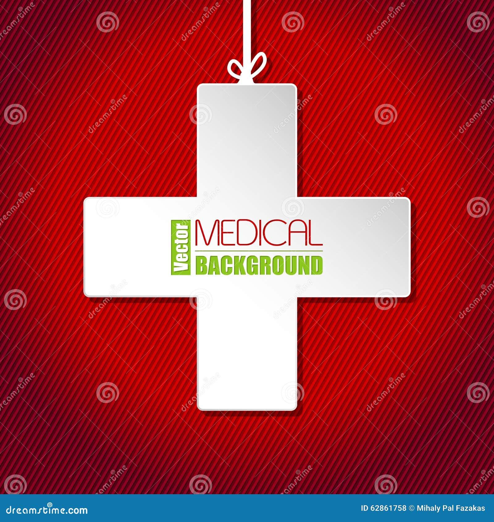 medische achtergrond met wit kruis vector illustratie - afbeelding