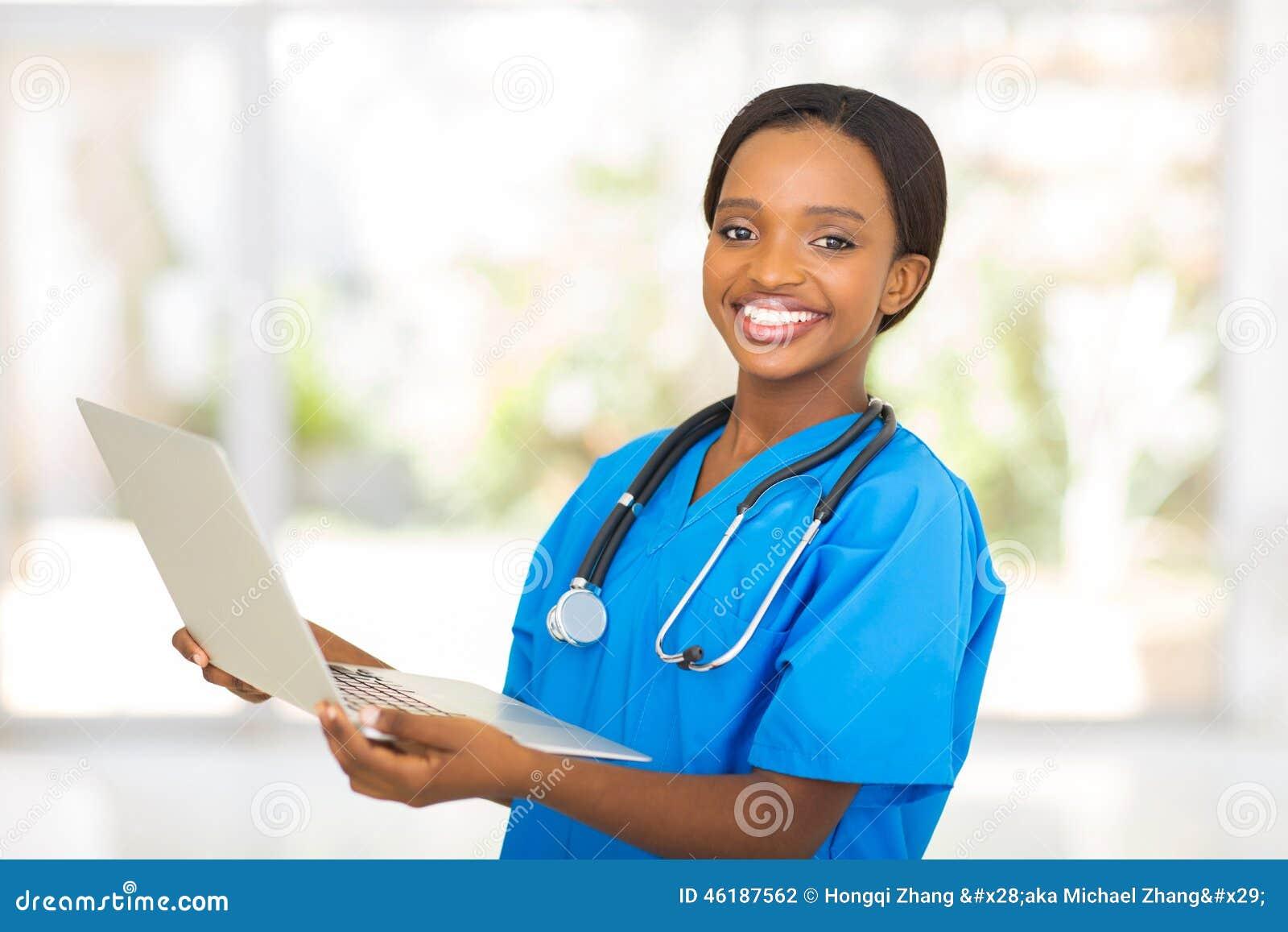Medische arbeiderslaptop
