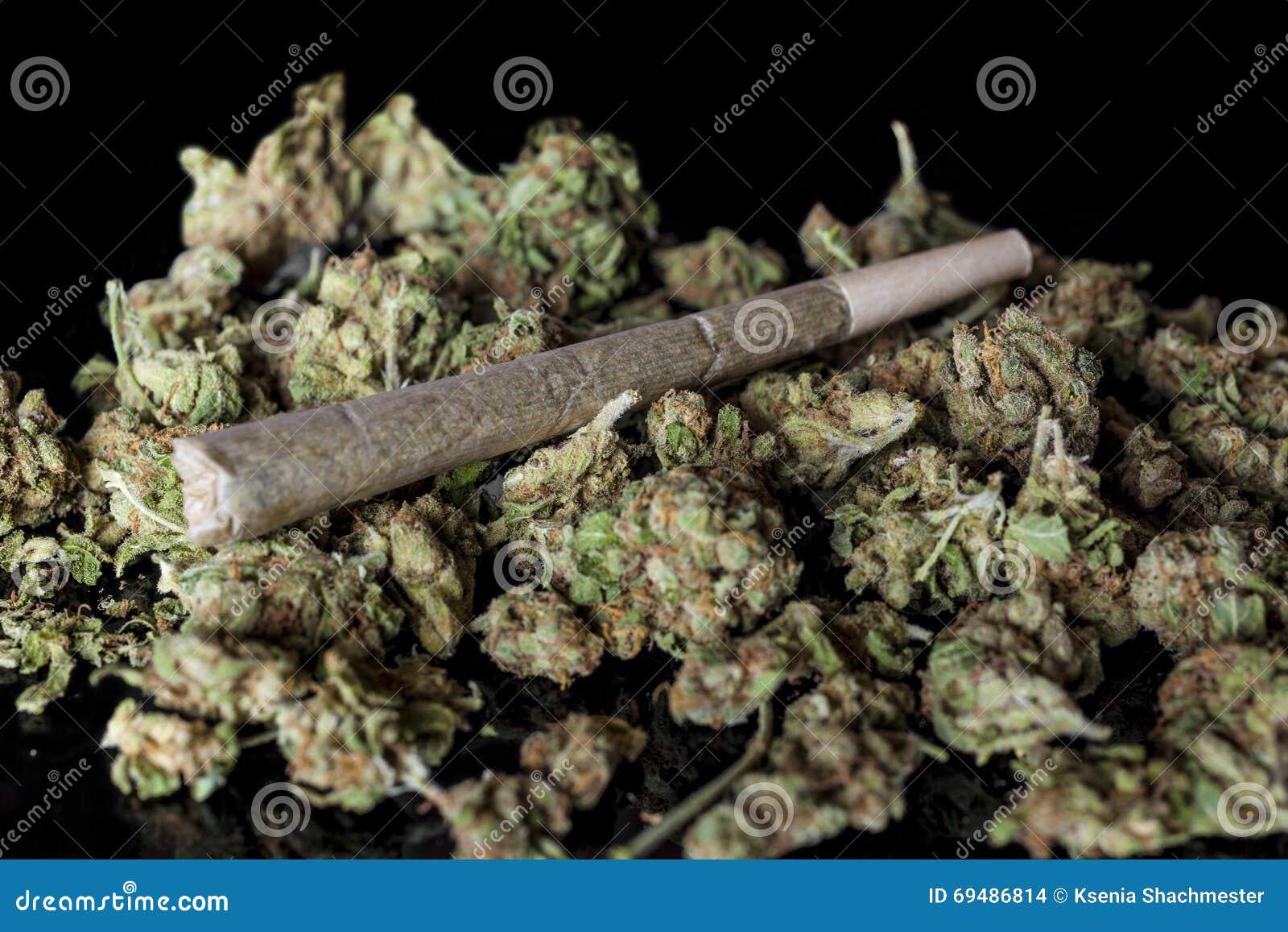 Medische cannabisverbinding op cannabisknoppen op zwarte van kant