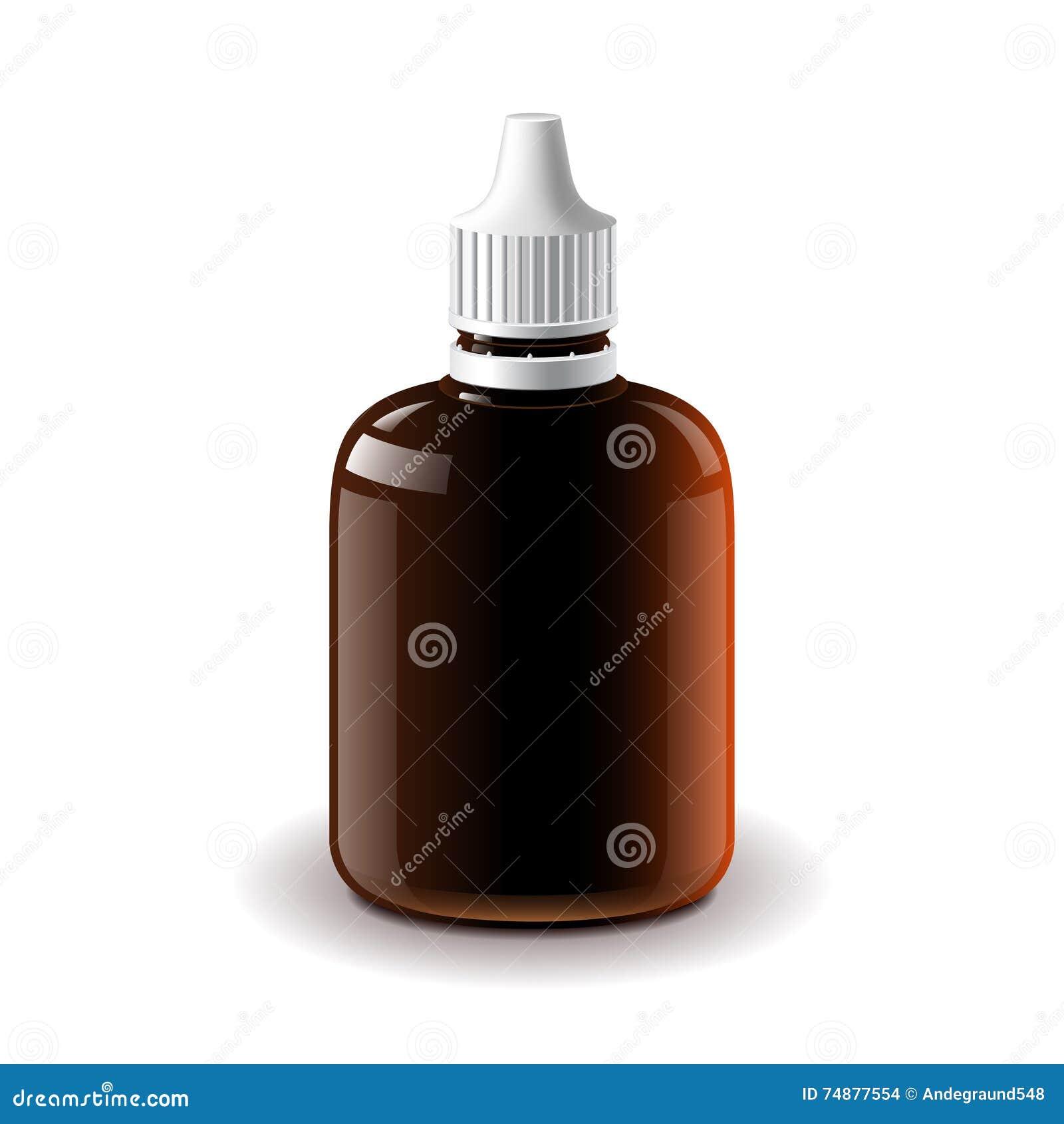 Medische donkere plastic fles geïsoleerde vector