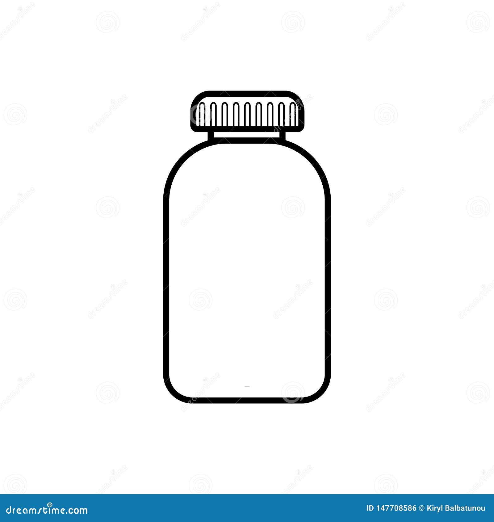 Medische farmaceutische pillenpillen in een pakket, een kruik met een deksel voor de behandeling van ziekten, een eenvoudig zwart