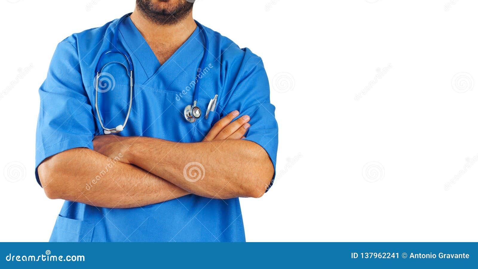 Medische medewerker met stethoscoop
