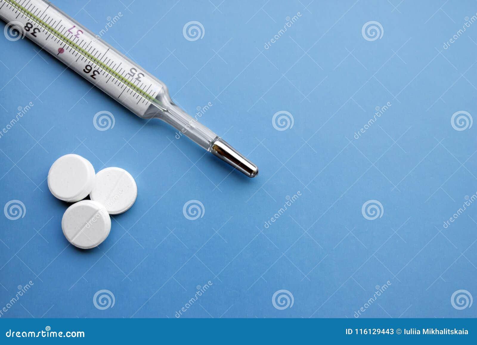 Medische onderwerpen op blauwe achtergrond