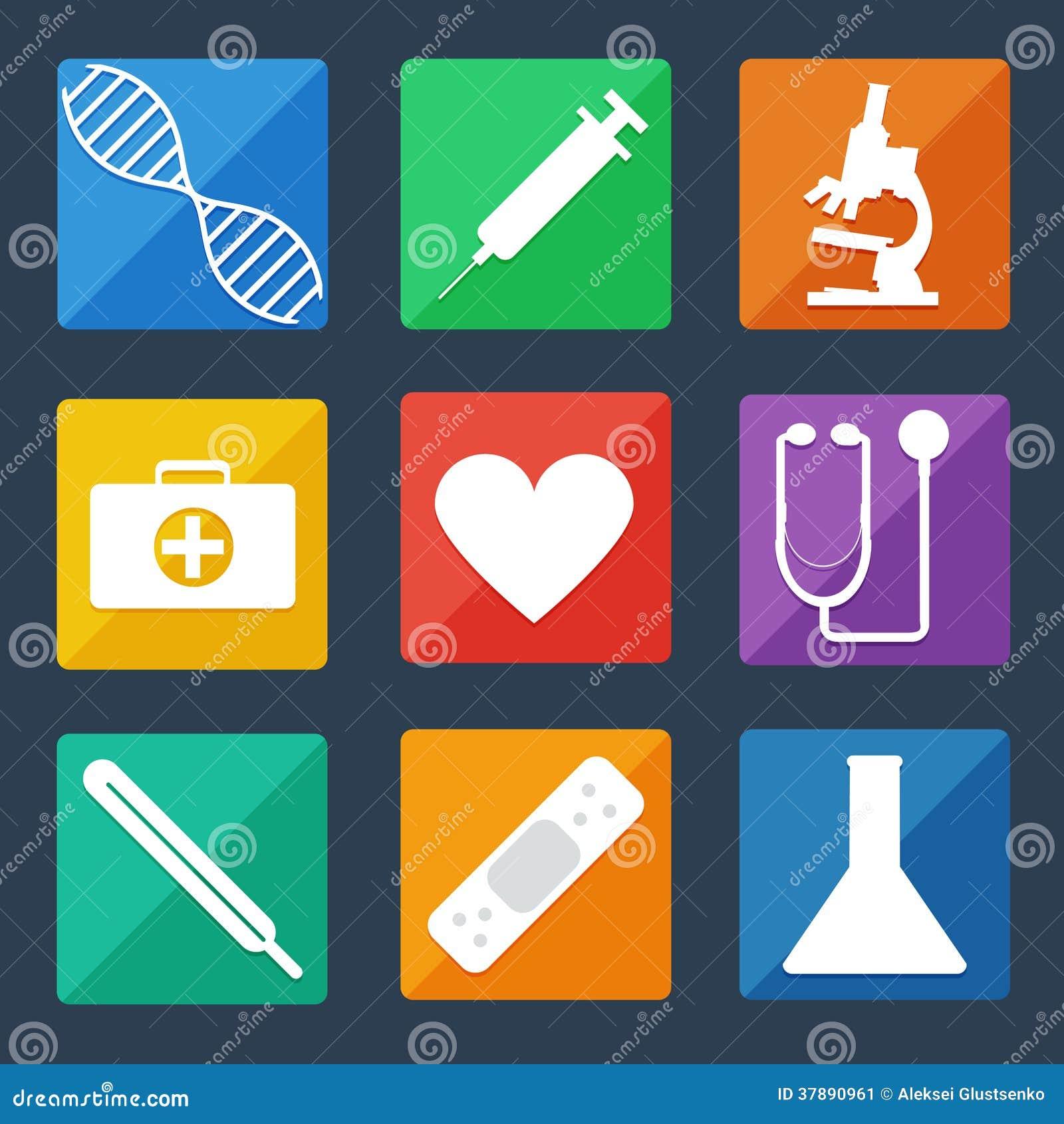 Medische Pictogrammen Vlakke UI