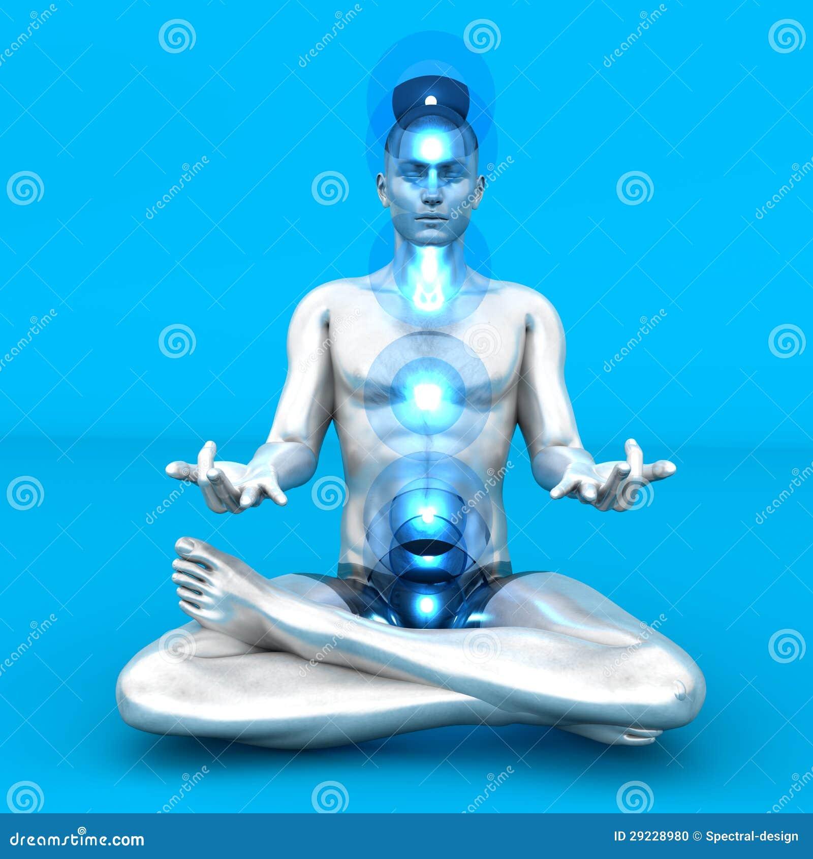 Download Meditação de Chakra ilustração stock. Ilustração de esoteric - 29228980