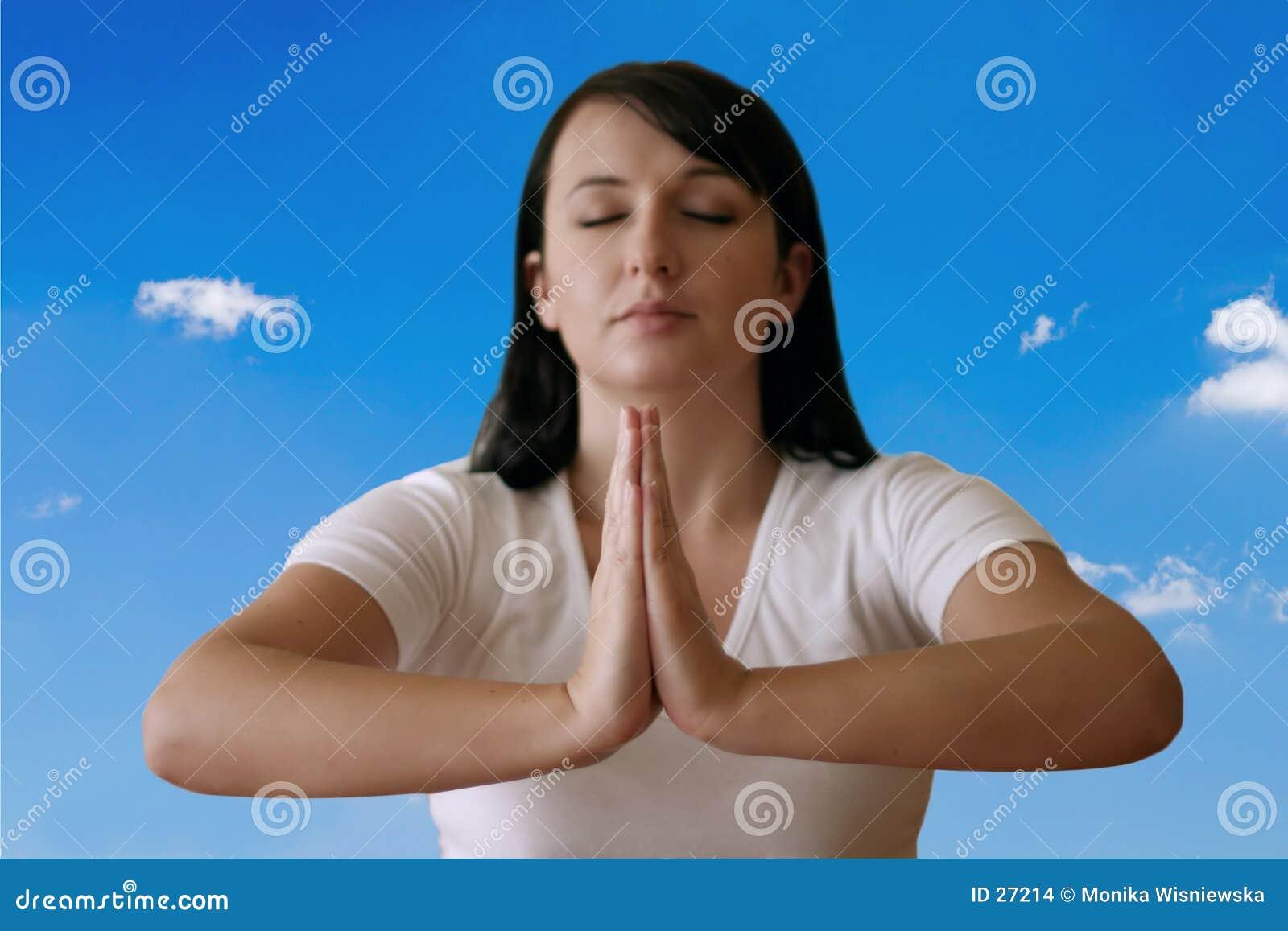 Download Meditación foto de archivo. Imagen de caucásico, ejercicio - 27214