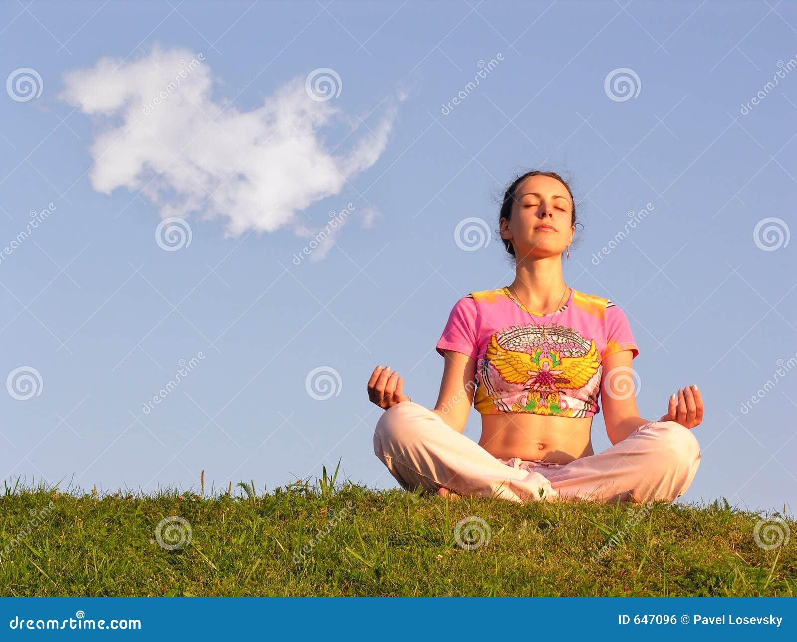 Meditación de la muchacha
