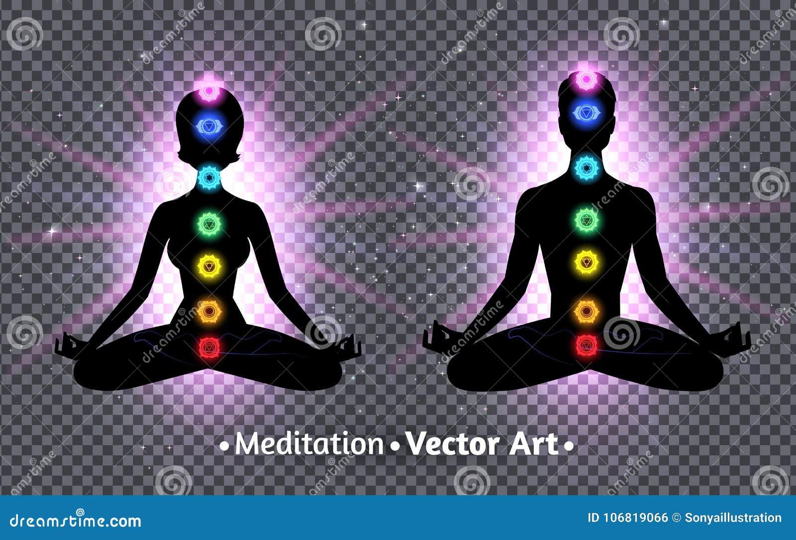 Meditar las siluetas masculinas y femeninas