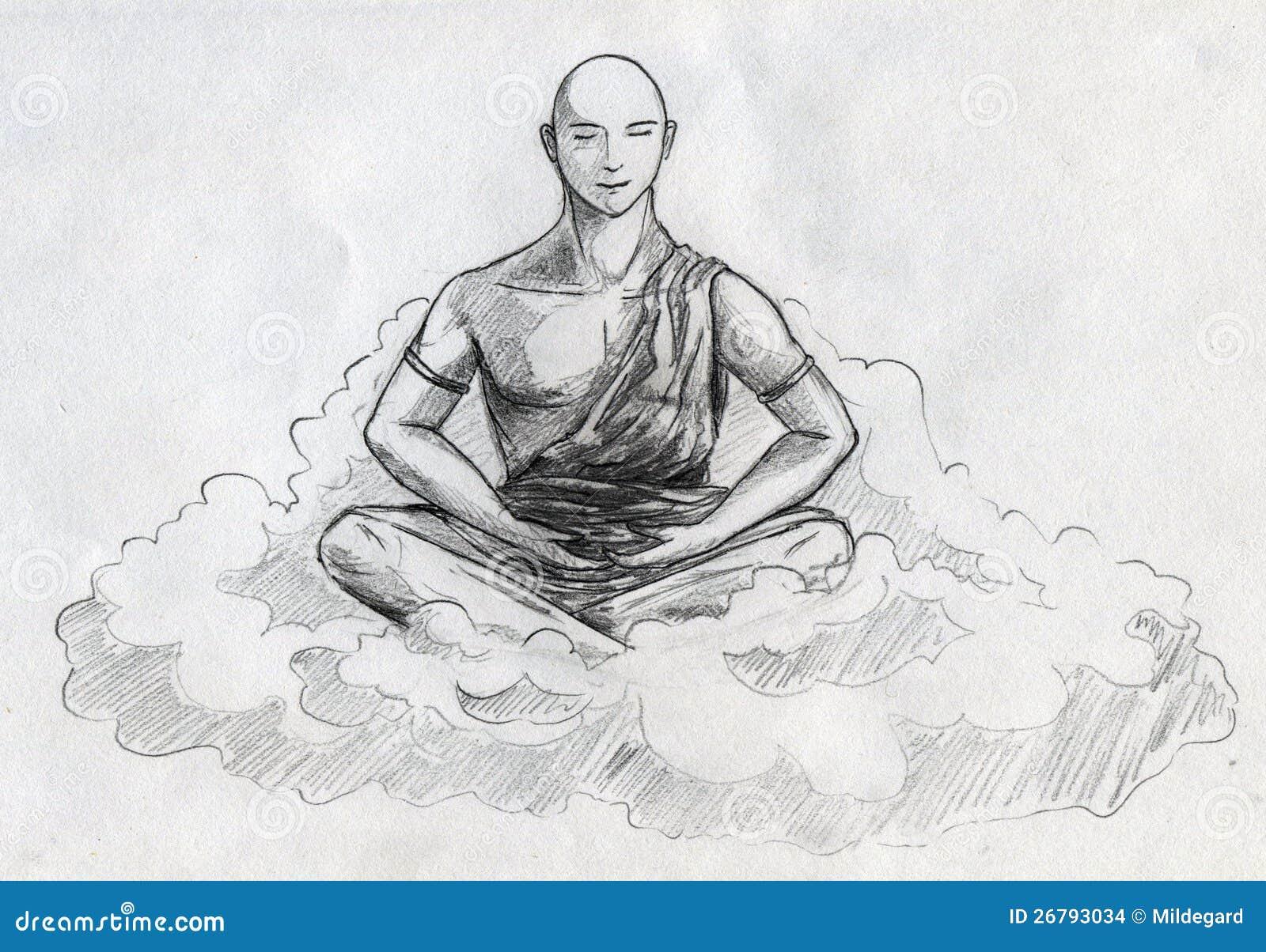 Meditation Stock Illustration Illustration Of Lotus 26793034