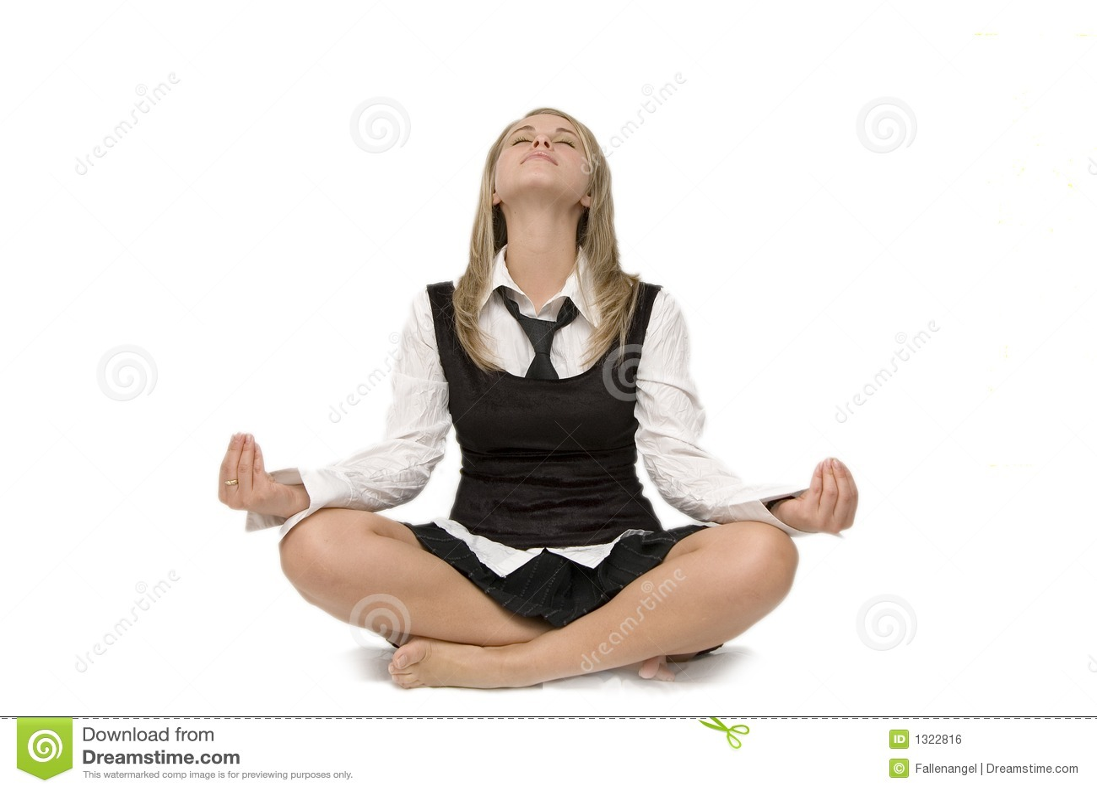 Meditation Business woman