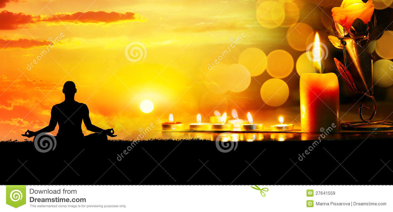meditation with candles royalty free stock images image
