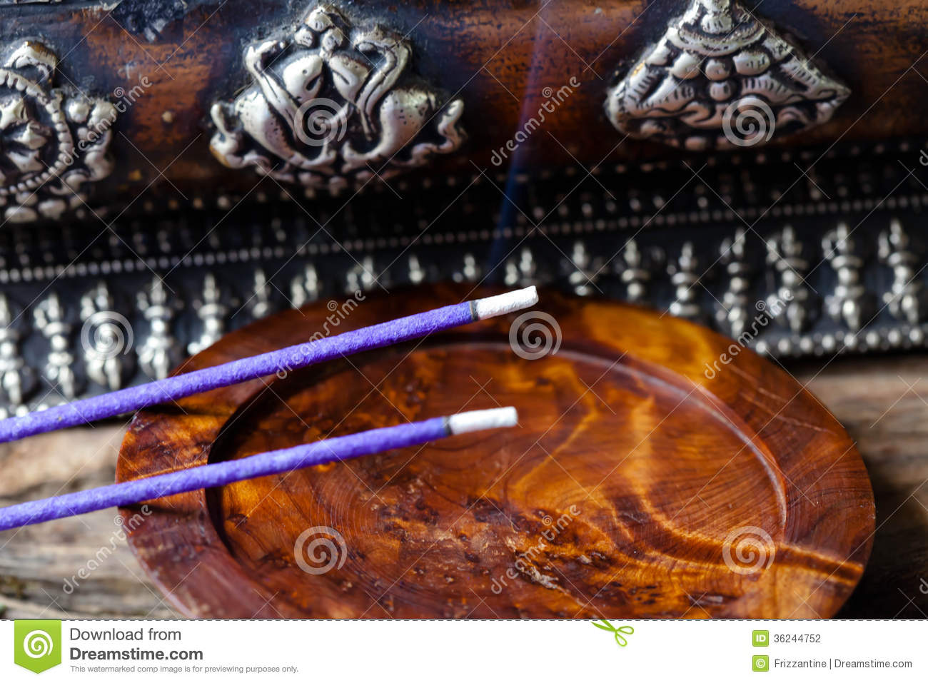 Meditation With Incense Stock Photography Image 36244752