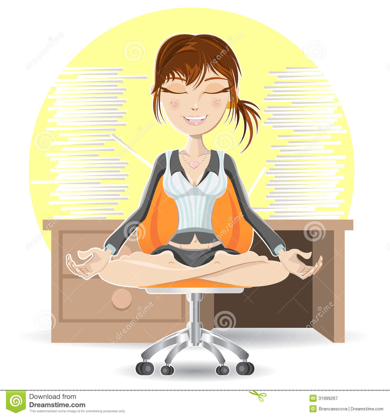 yoga office chair with Royalty Free Stock Photography Meditation Office Woman Calming Down Busy Environment Image31999267 on Clipart Caring Stick Man further Yoga For Recruiters Relaxed For A Better Work Life Balance as well Best Desk Exercise Equipment Fitness Deskercise For Work Amazon Nike Reebok A6824746 as well A 82 additionally Health And Wellness In The Workplace.