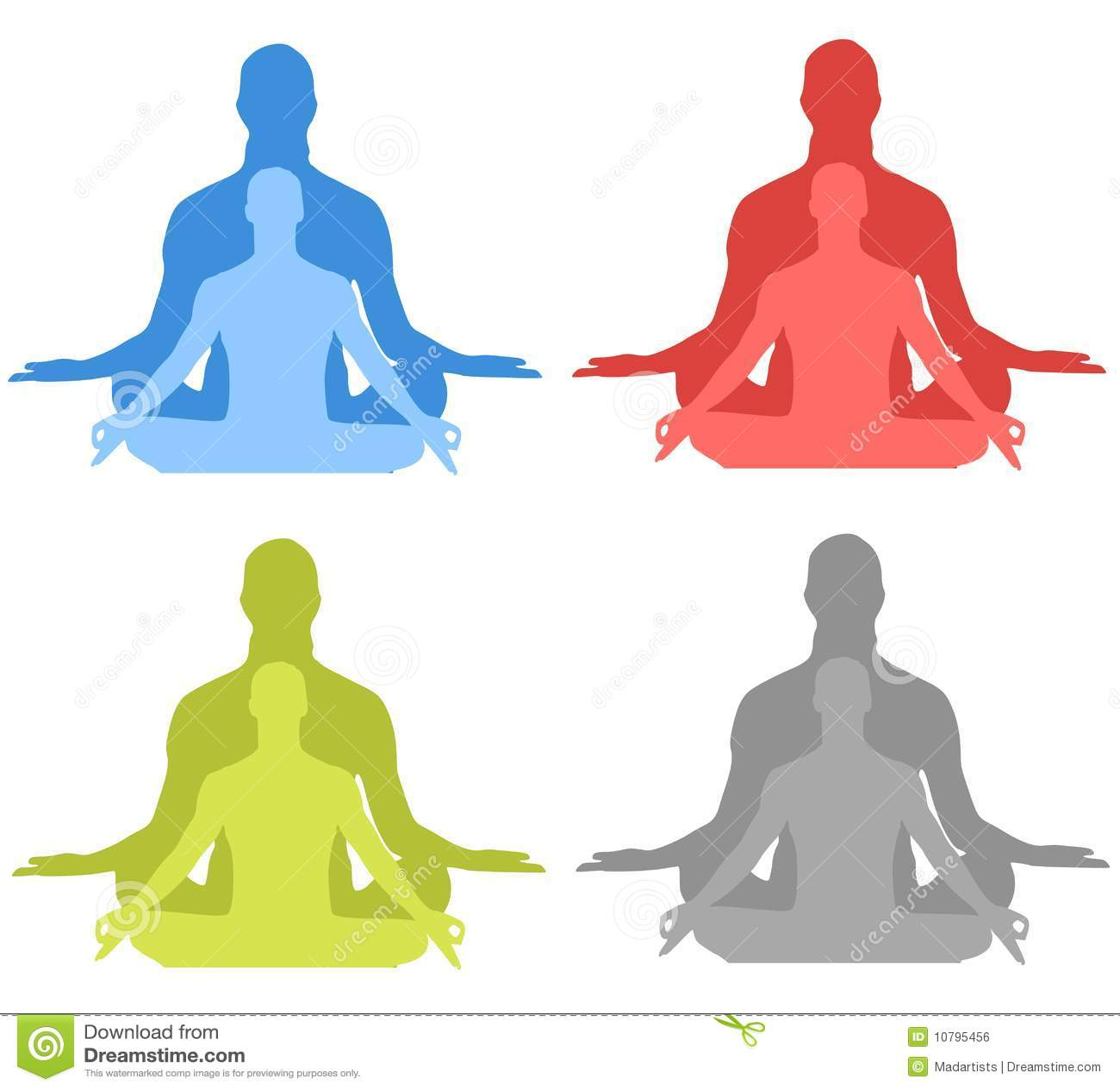 Meditation-Schattenbilder