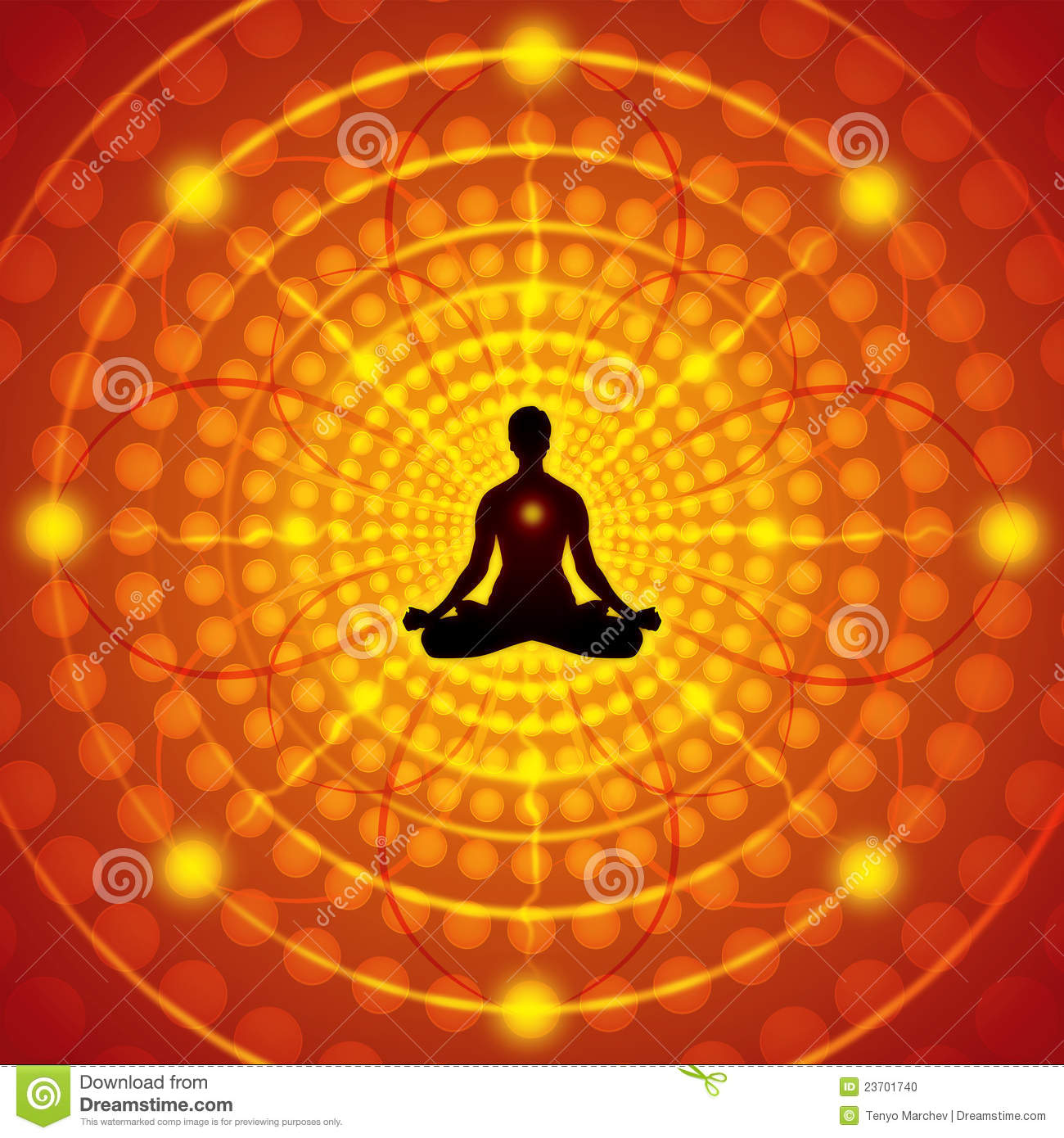 meditation vector illustration illustration 23701740 megapixl