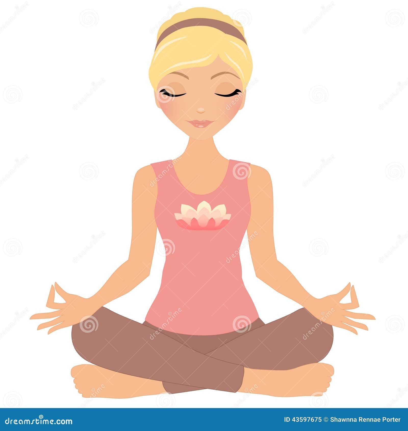 Meditation Woman Stock Image Illustration Of Isolation