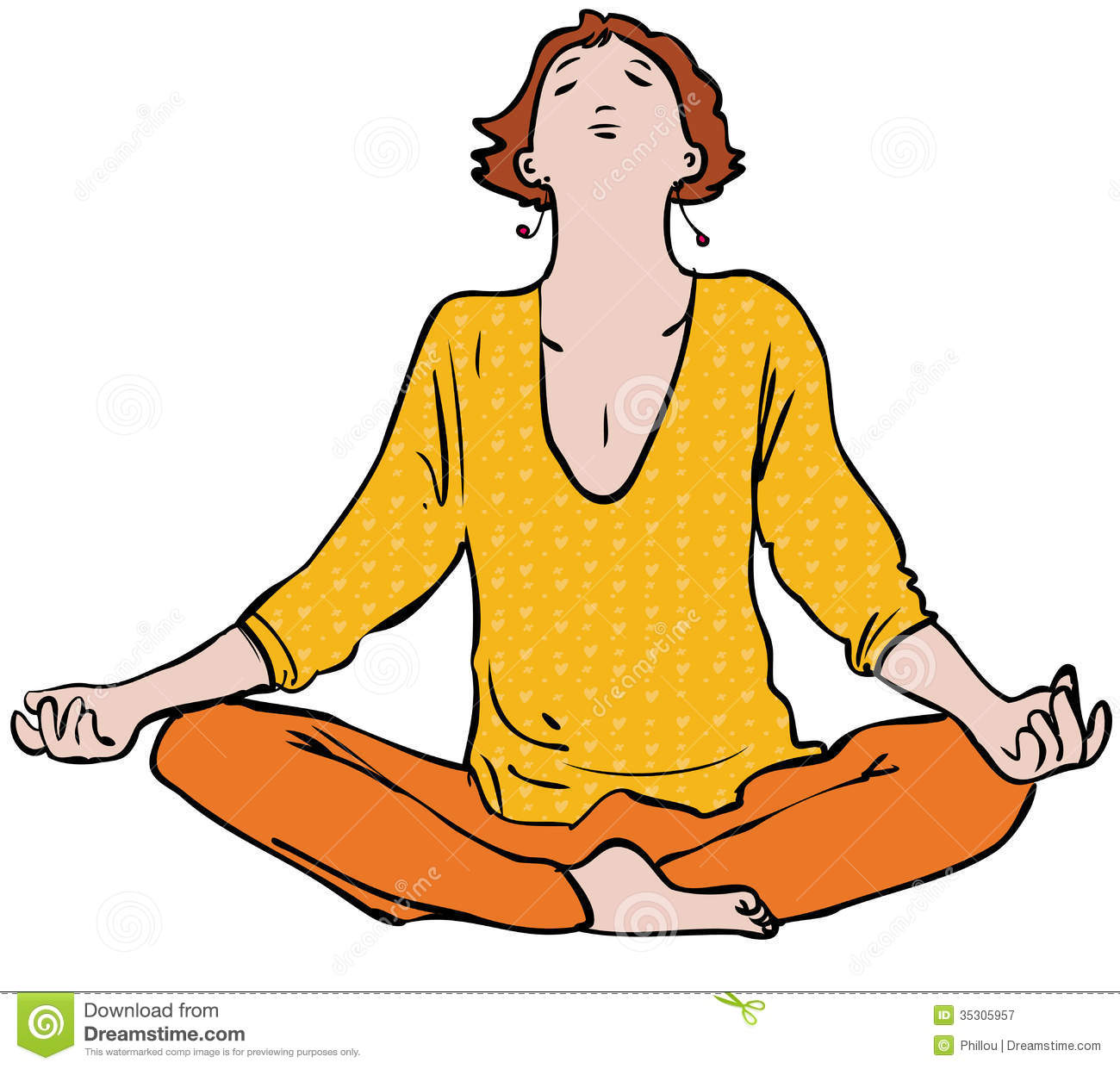 meditation stock vector image of collected  pose Critical Thinking Clip Art Man Thinking Clip Art