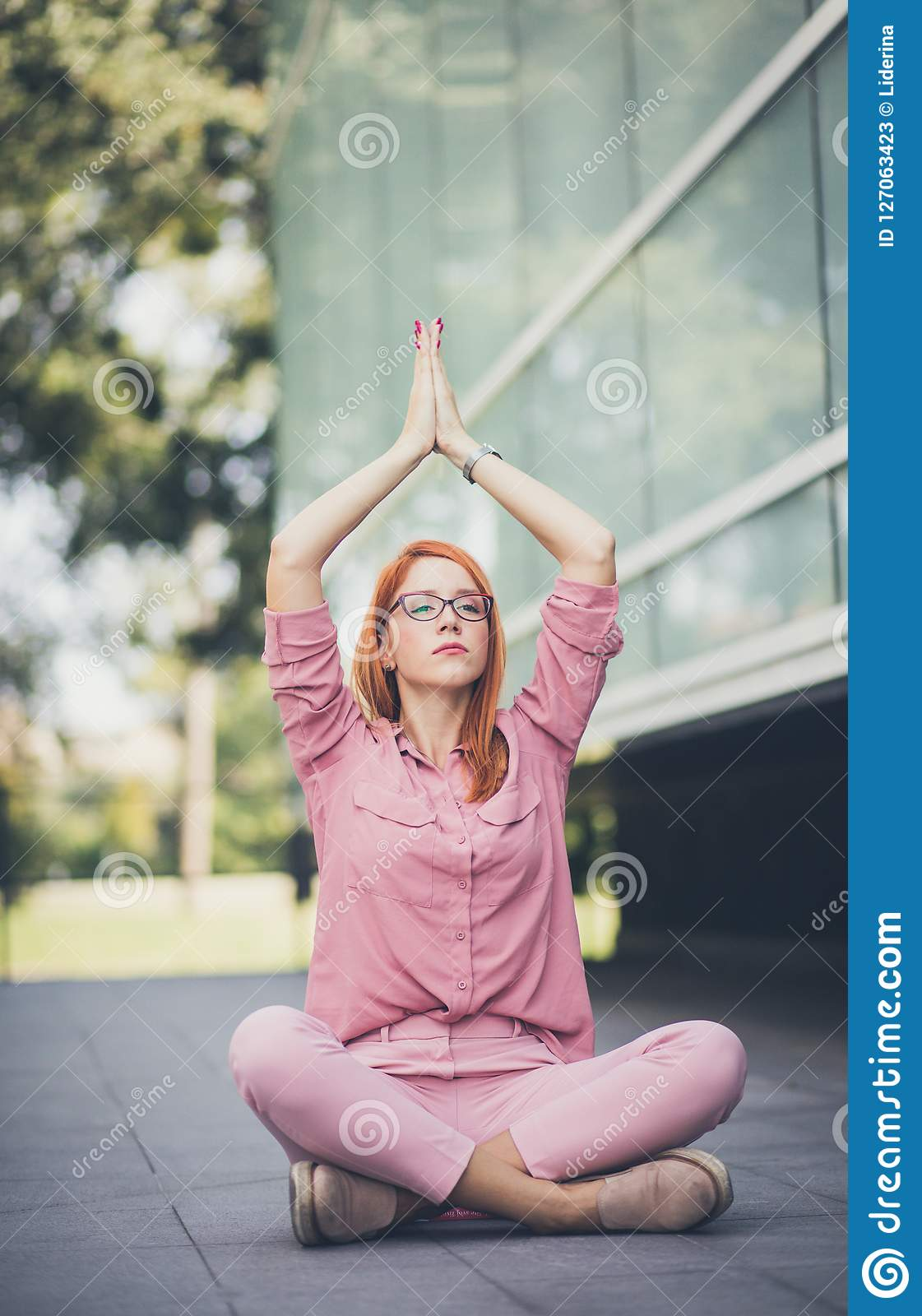 Meditation. Yoga lover. Business and pleasure.