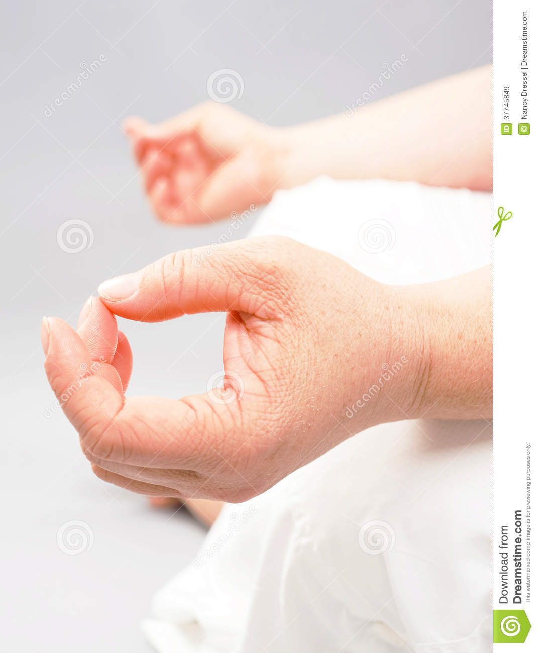 Woman sitting in yoga pose during meditation  Closeup body part of her    Yoga Meditation Pose