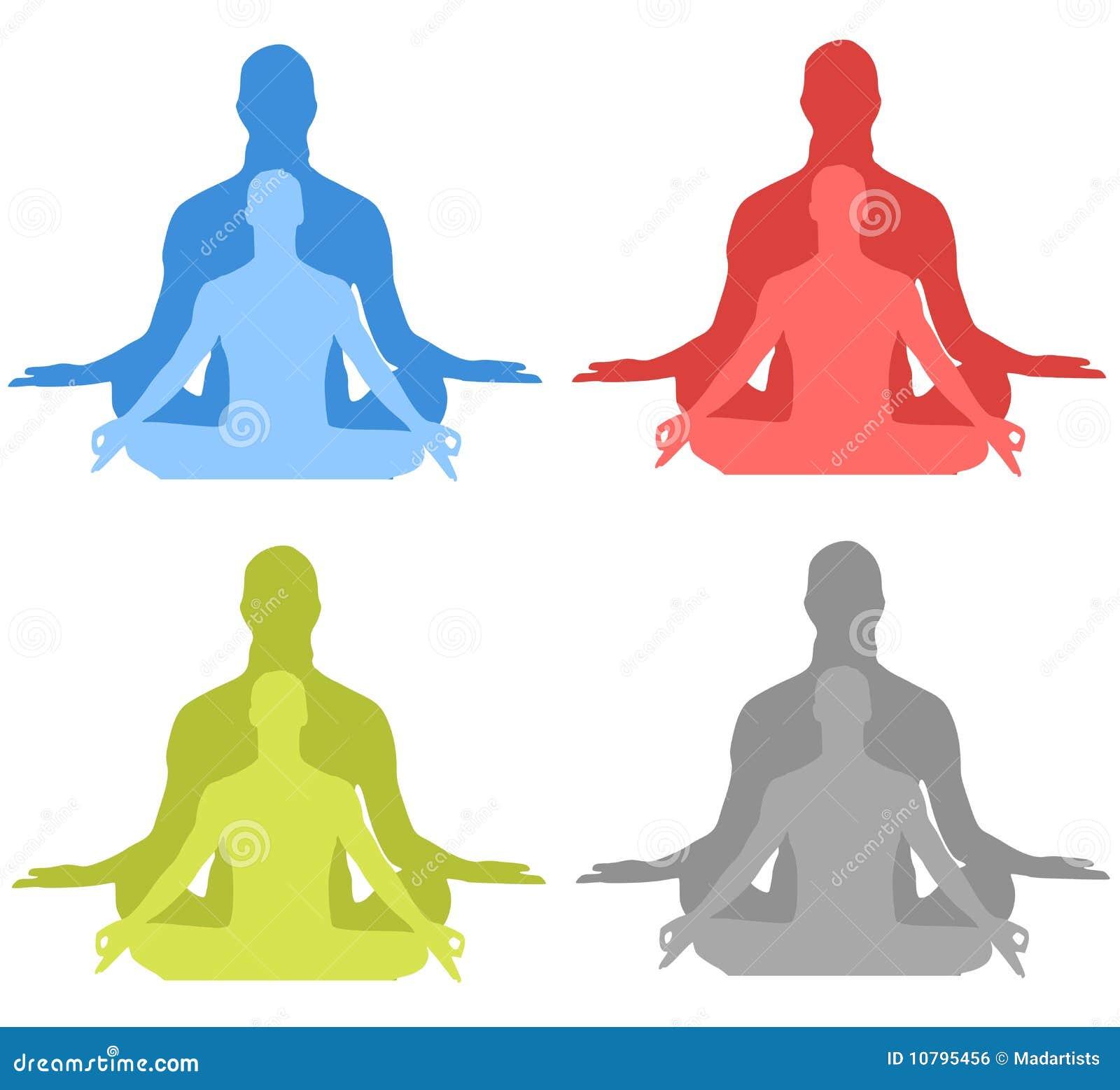 Meditationsilhouettes