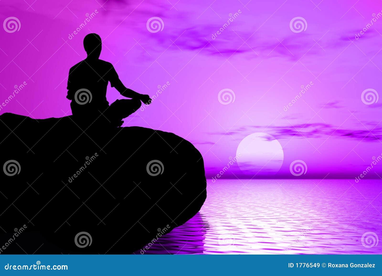 Meditationsoluppgångyoga