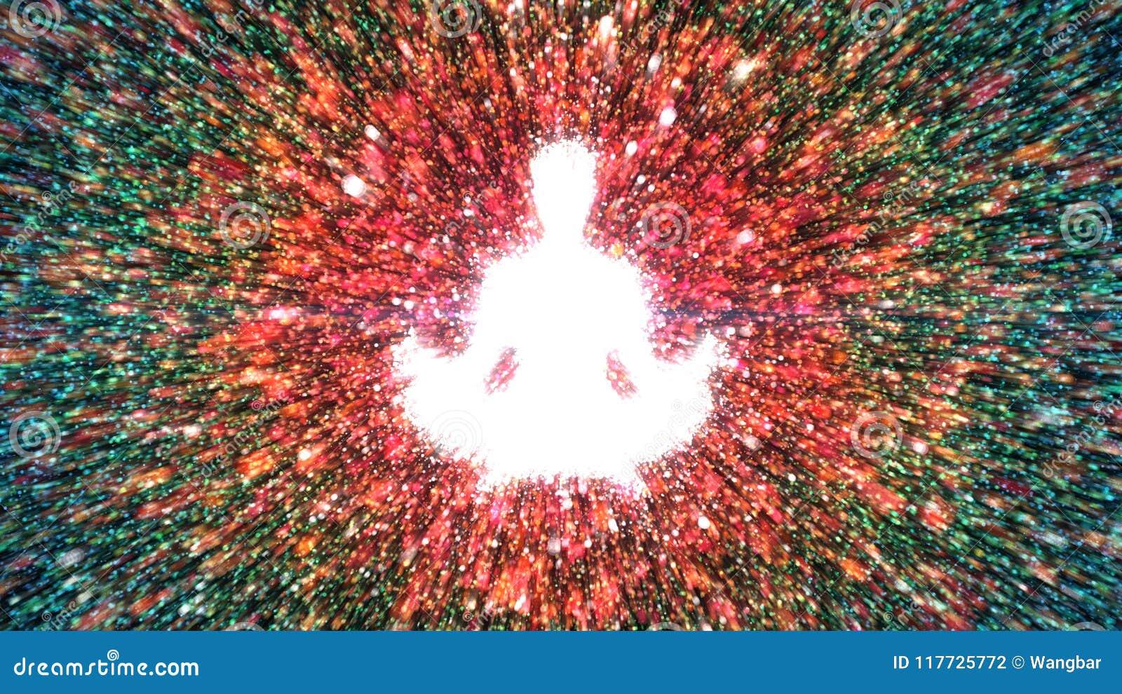 Meditazione e consapevolezza - forma femminile messa