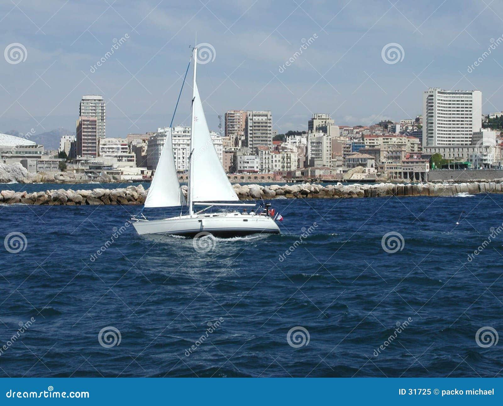 Mediterrane witte boot