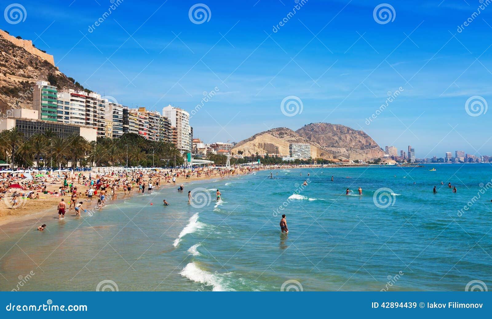 Mediterranean Beach In Alicante, Spain Editorial Stock ...