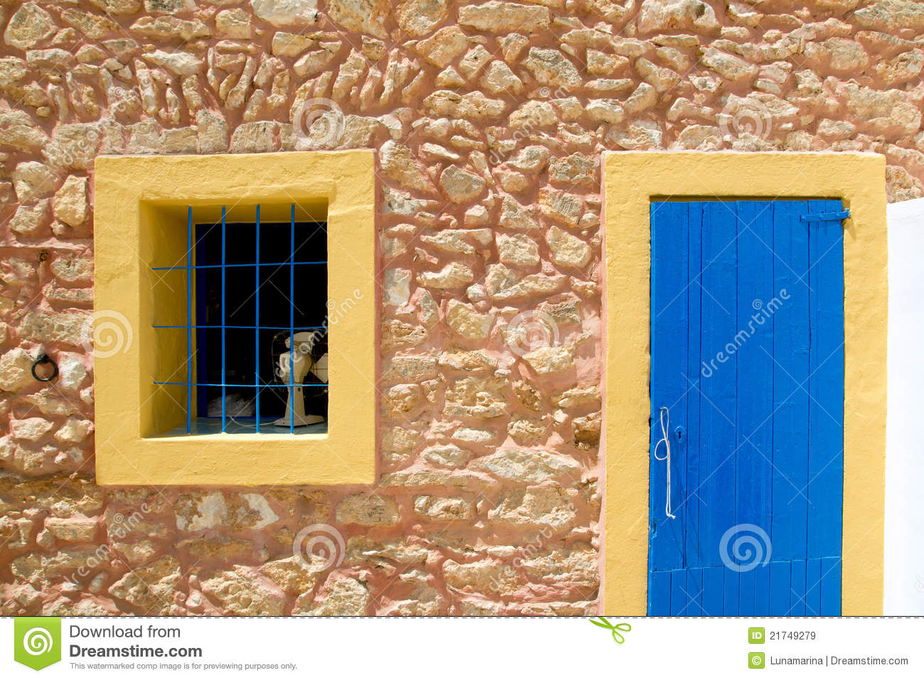957 #0569C6 Mediterranean Blue Door And Window In Formentera Royalty Free Stock  picture/photo Mediterranean Entry Doors 44691300