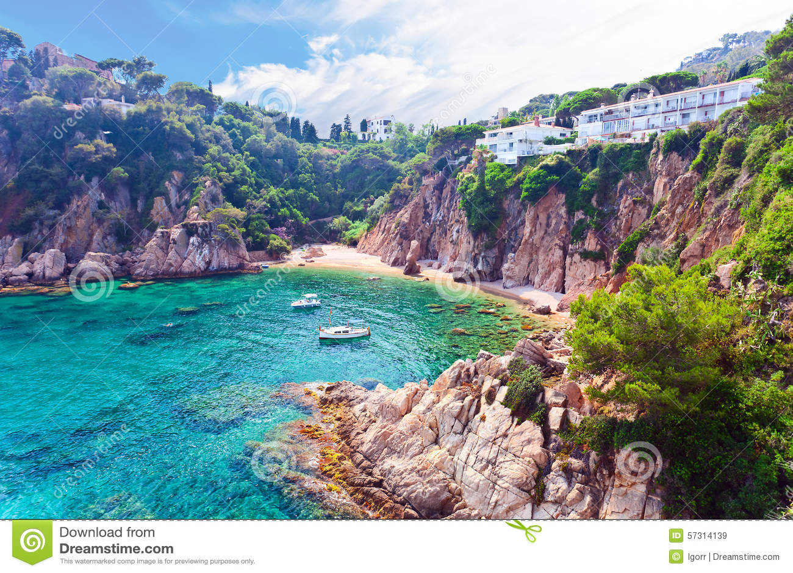 Mediterranean Coast Of Spain Stock Image - Image of water ...