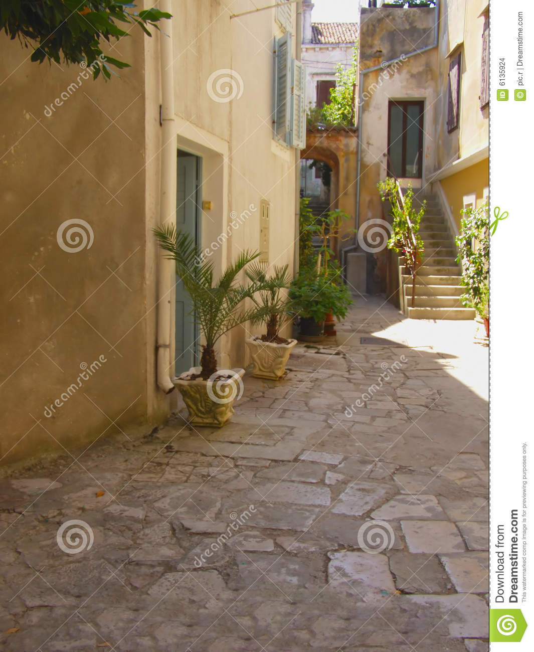 Mediterranean Courtyard Stock Photo Image Of History