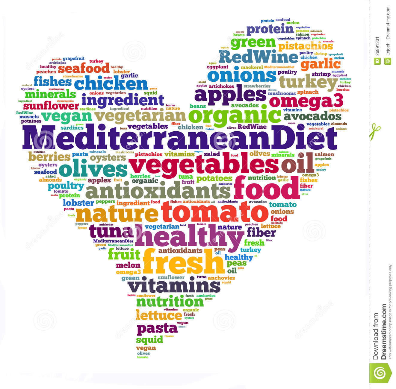 Mediterranean Diet Stock Illustration Image Of Greek