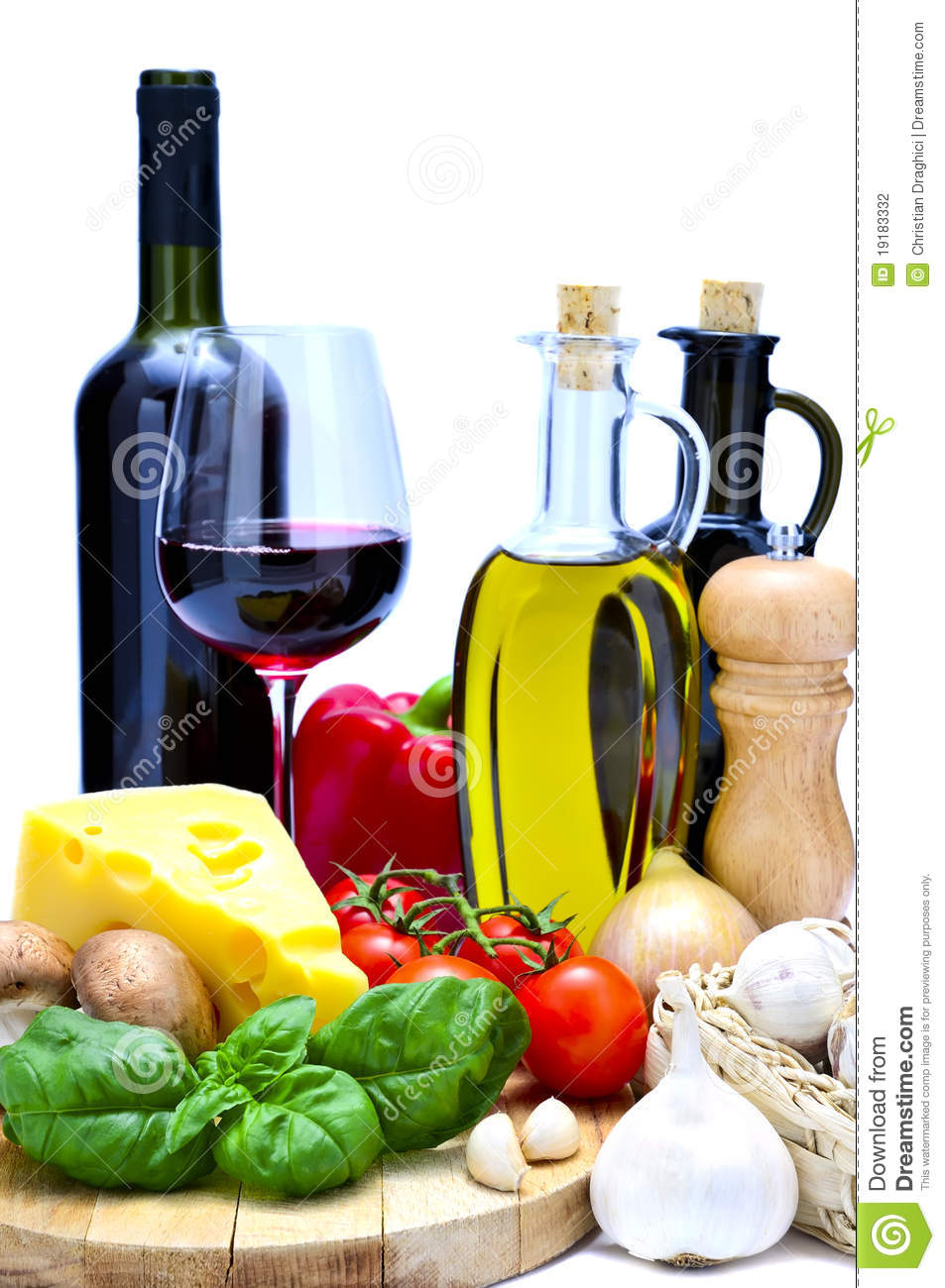 Mediterranean Food And Wine Stock Photography Image