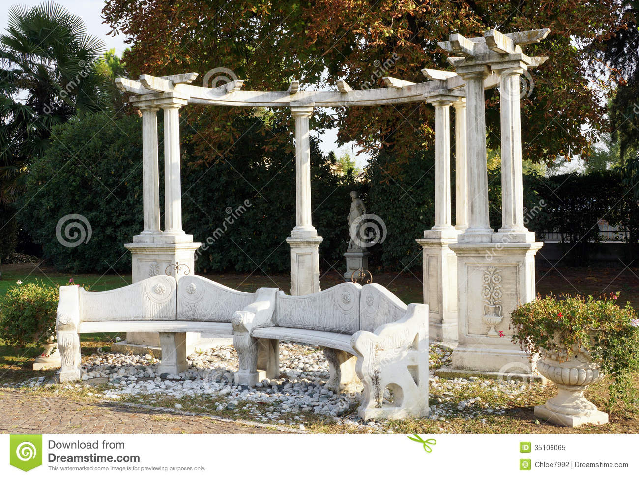 Mediterranean Garden Royalty Free Stock Photo Image 35106065