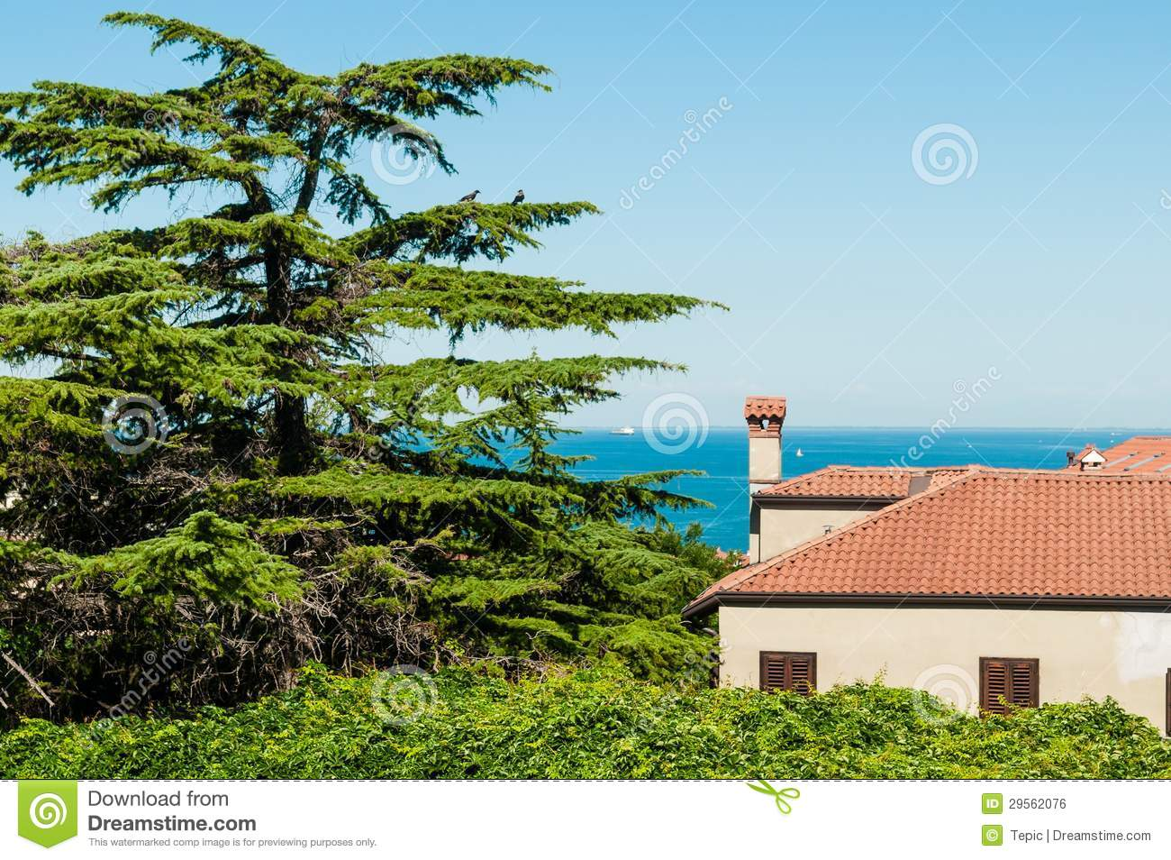 Mediterranean House And Sea Royalty Free Stock Image ...