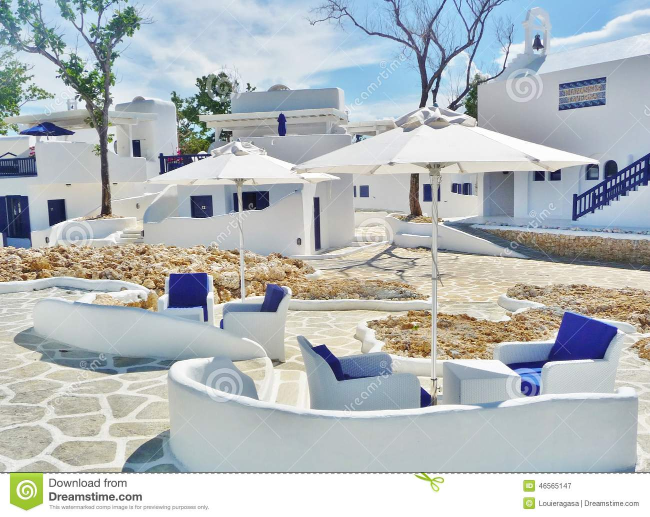 Mediterranean Houses stock image. Image of beautiful - 46565147