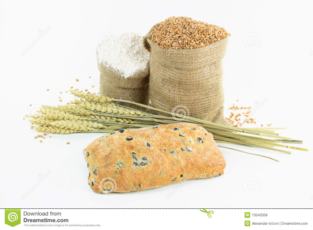 Mediterranean Olive Bread And Products. Royalty Free Stock Photos ...