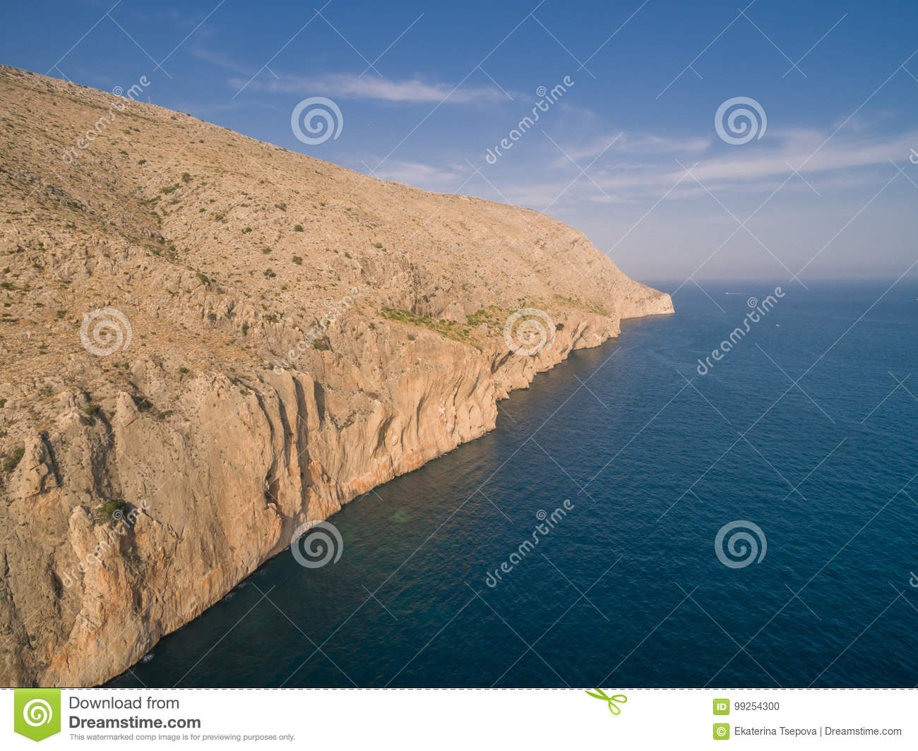 Mediterranean sea coast Spain