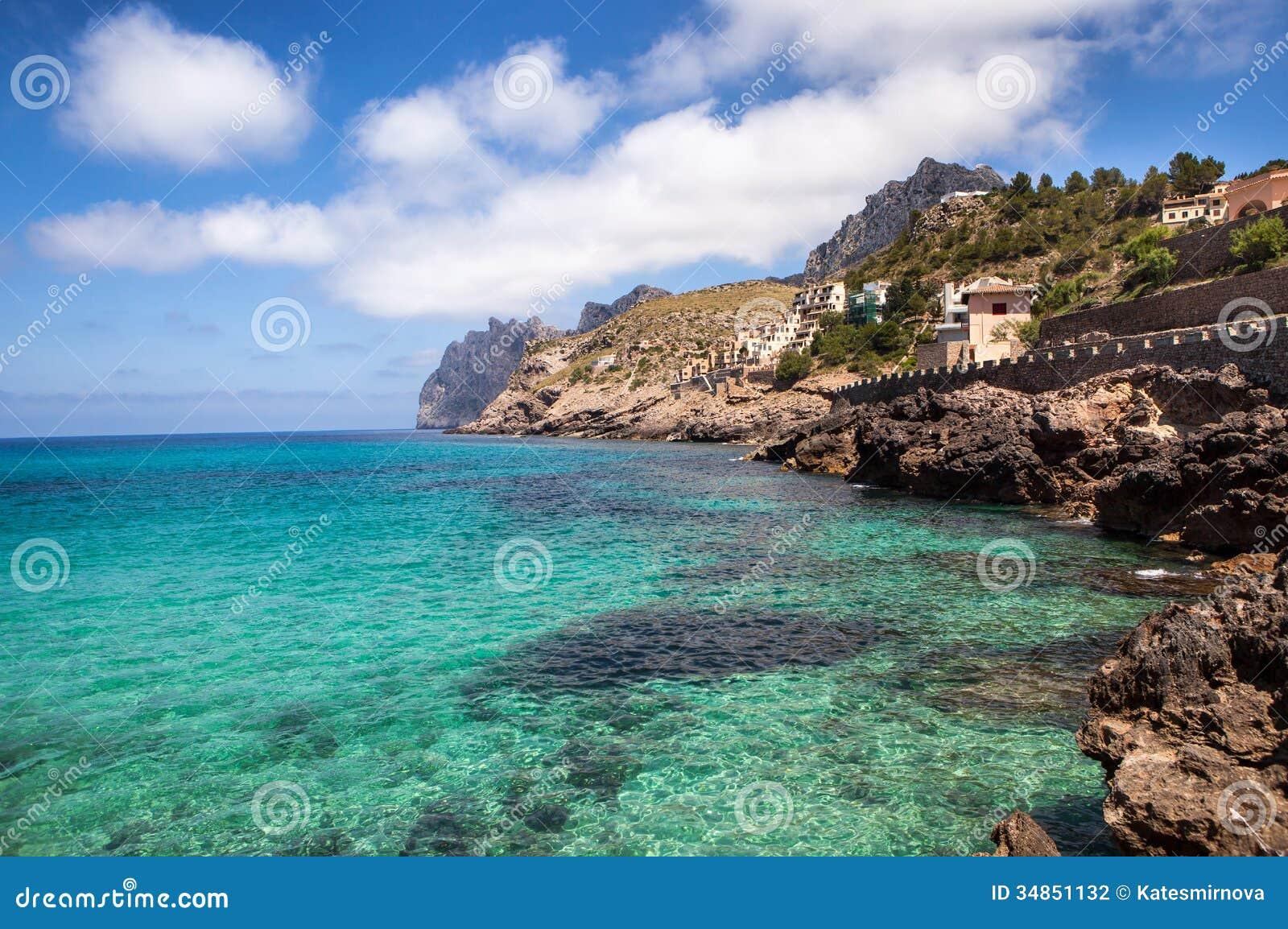 Mediterranean Sea And Rocky Coast Of Spain Stock Photo ...