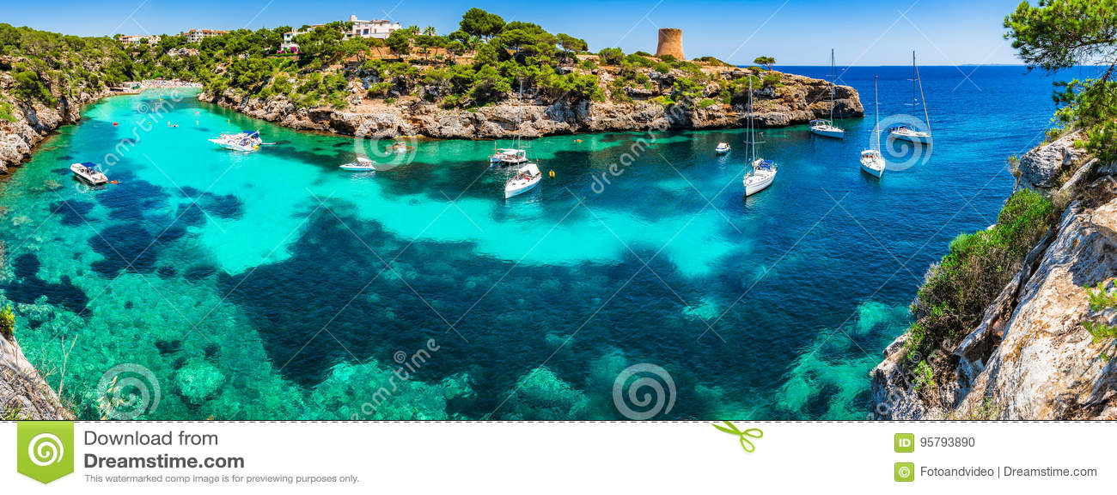 Mediterranean Sea Spain Majorca Cala Pi