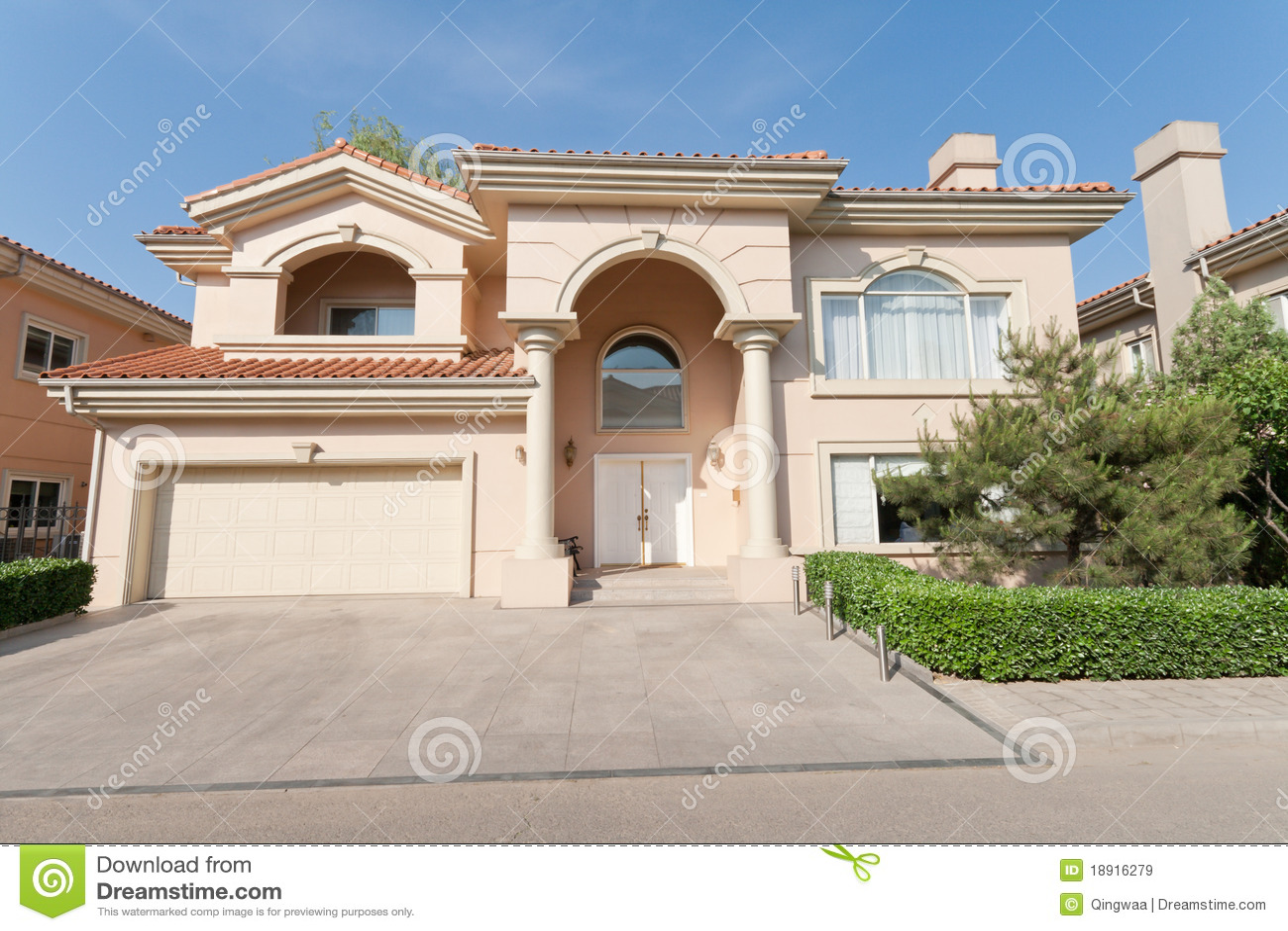 mediterranean single family house beijing china royalty free