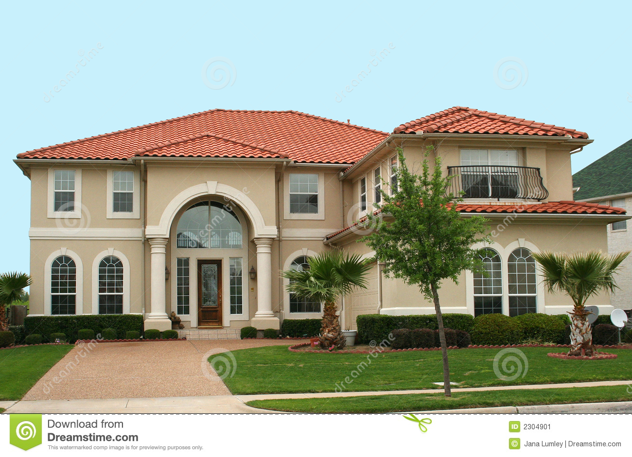 Mediterranean Style Home Stock Image Image 2304901