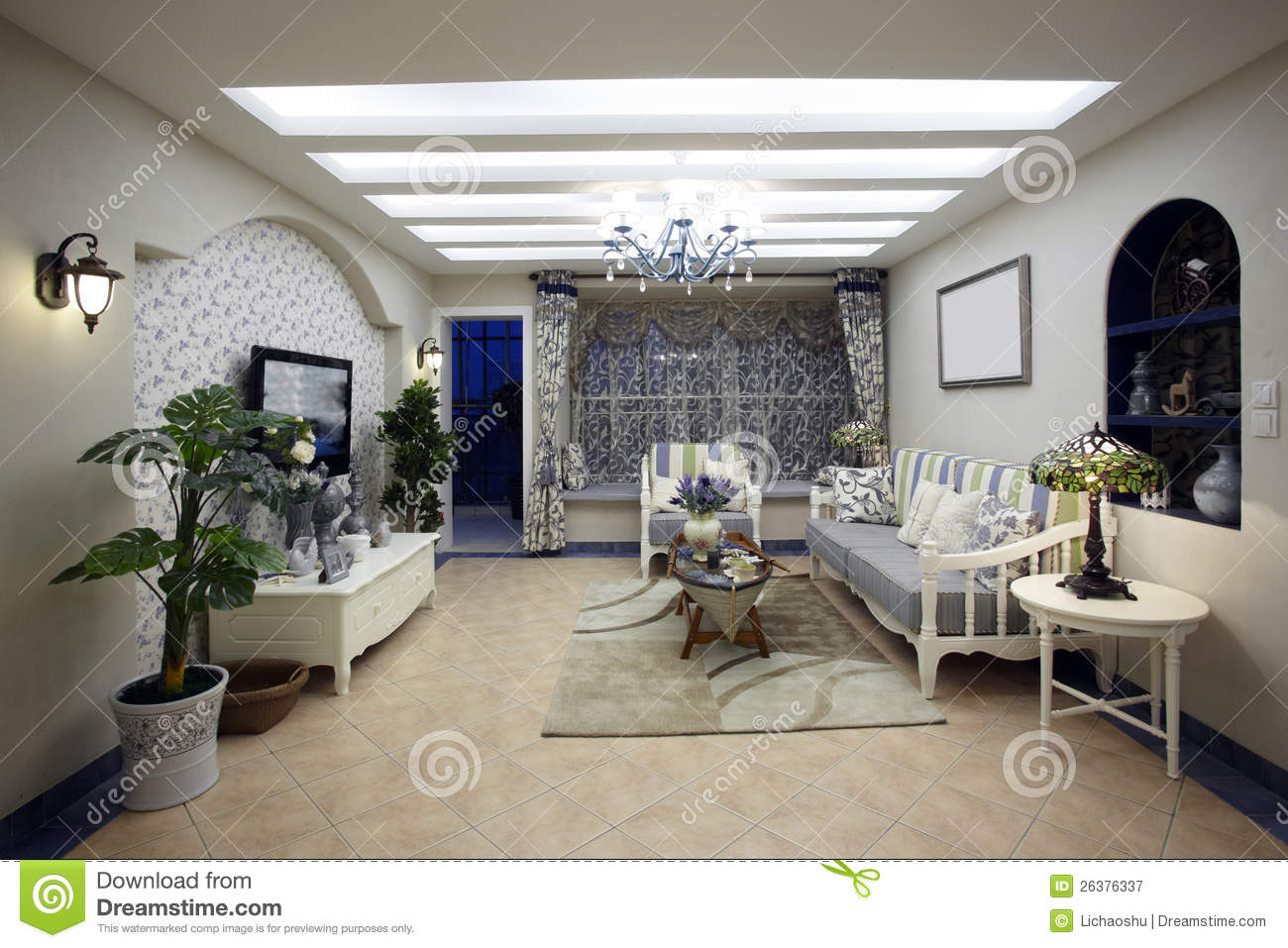 Mediterranean Decor Living Room Mediterranean Style Living Room Royalty Free Stock Photography